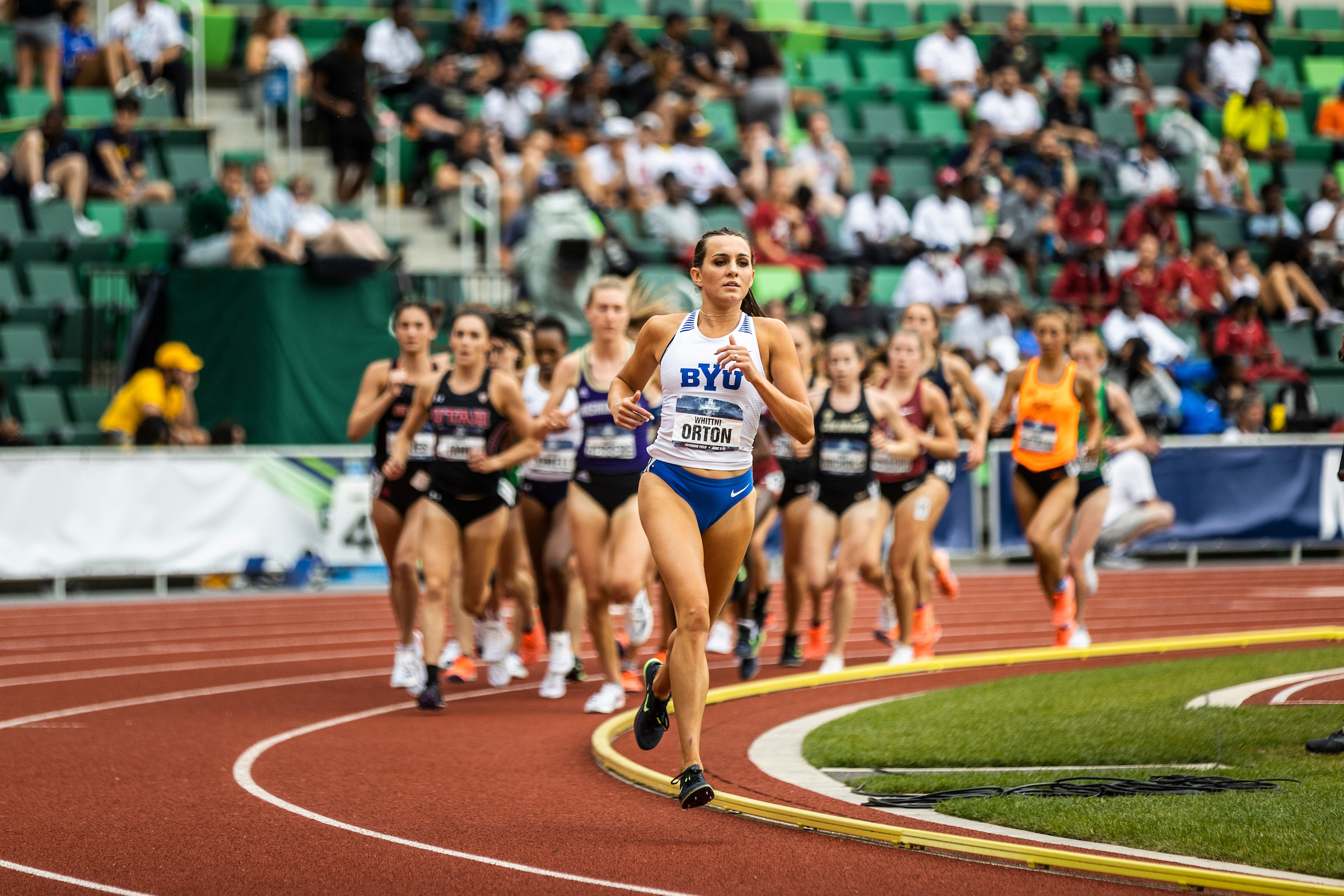 BYU's Whittni Orton ran the 14th fastest time in the  semifinals of the 1,500-meter race at the U.S. Olympic Track and Field Trials.