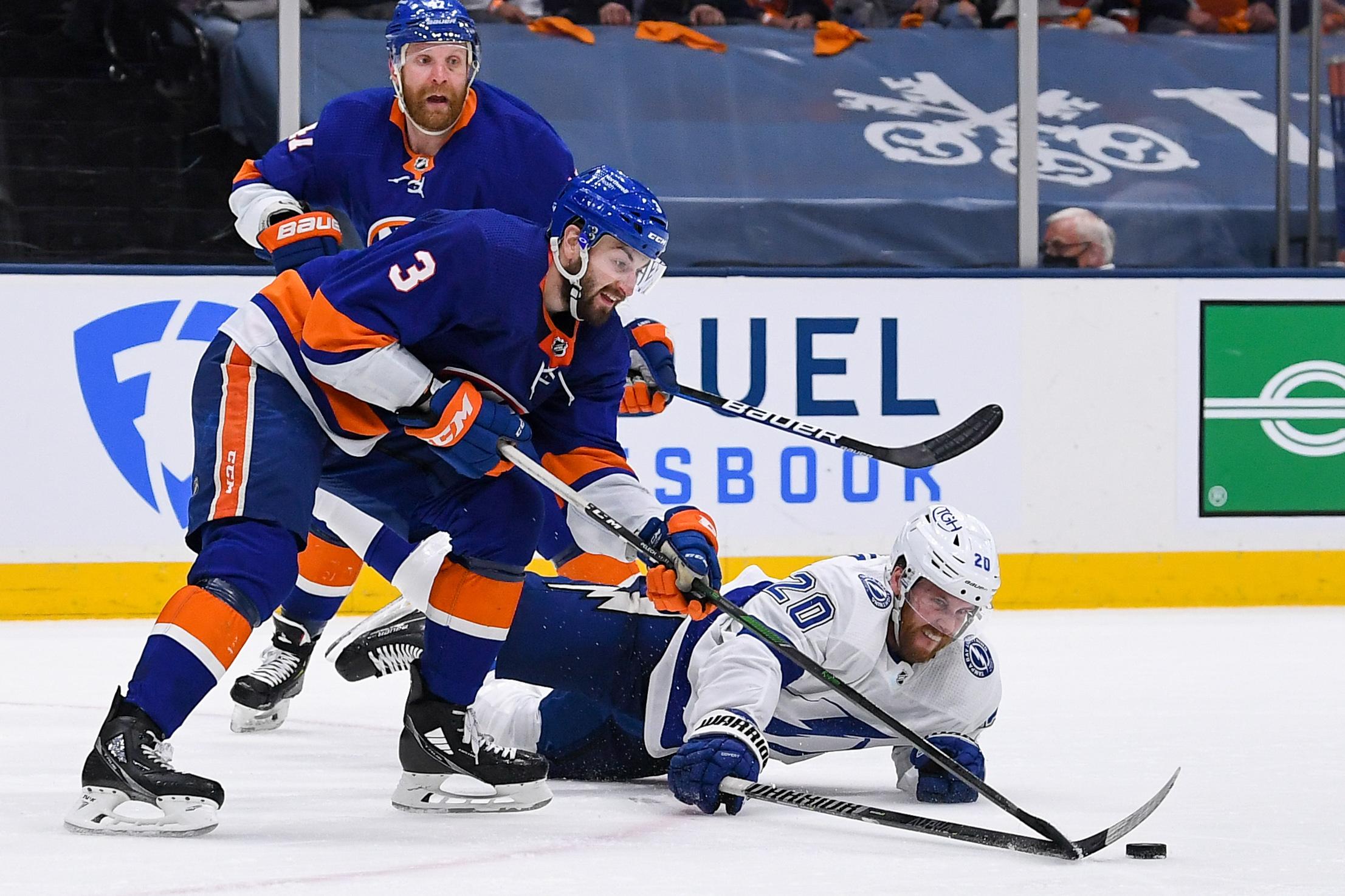 NHL: Stanley Cup Playoffs-Tampa Bay Lightning at New York Islanders