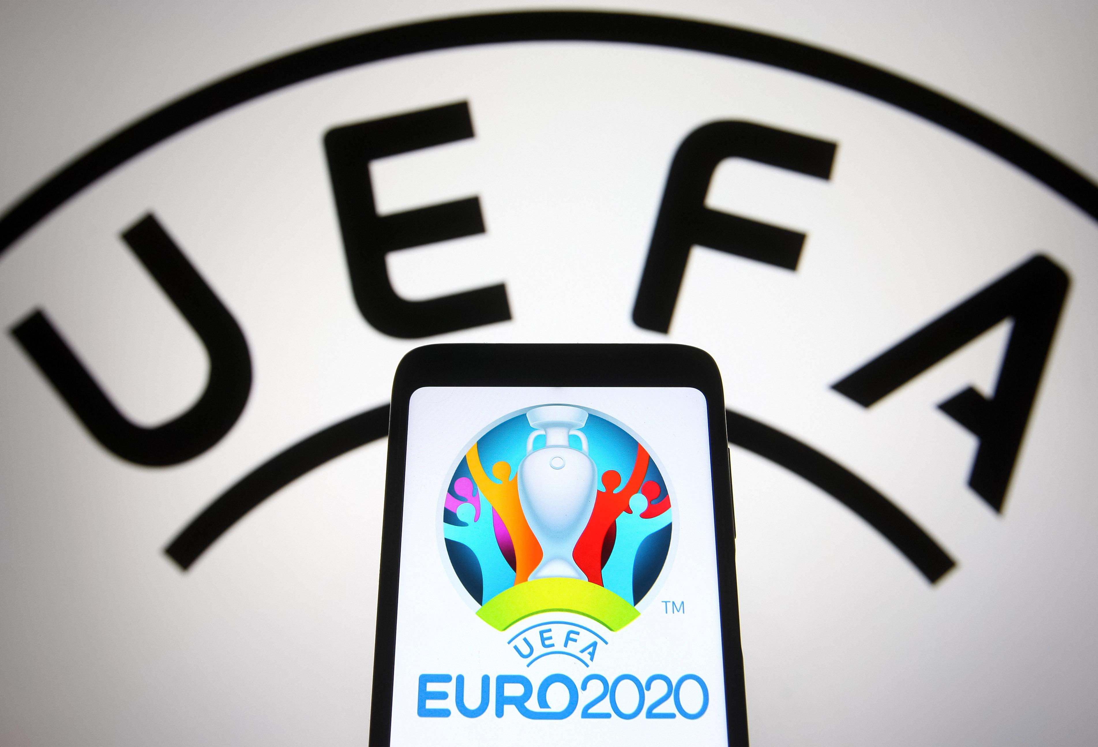 In this photo illustration, UEFA Euro 2020 (2020 UEFA...