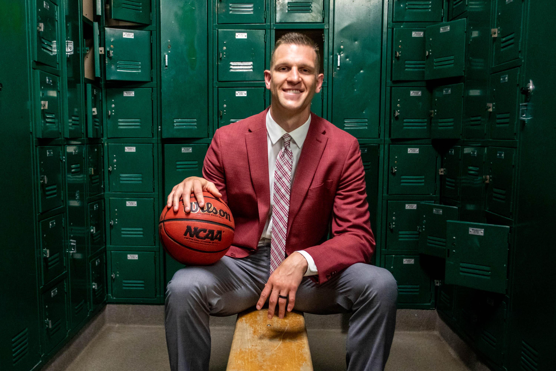 Grantsville High School basketball coach and former BYU basketball player Nate Austin is enjoying the high school coaching scene.