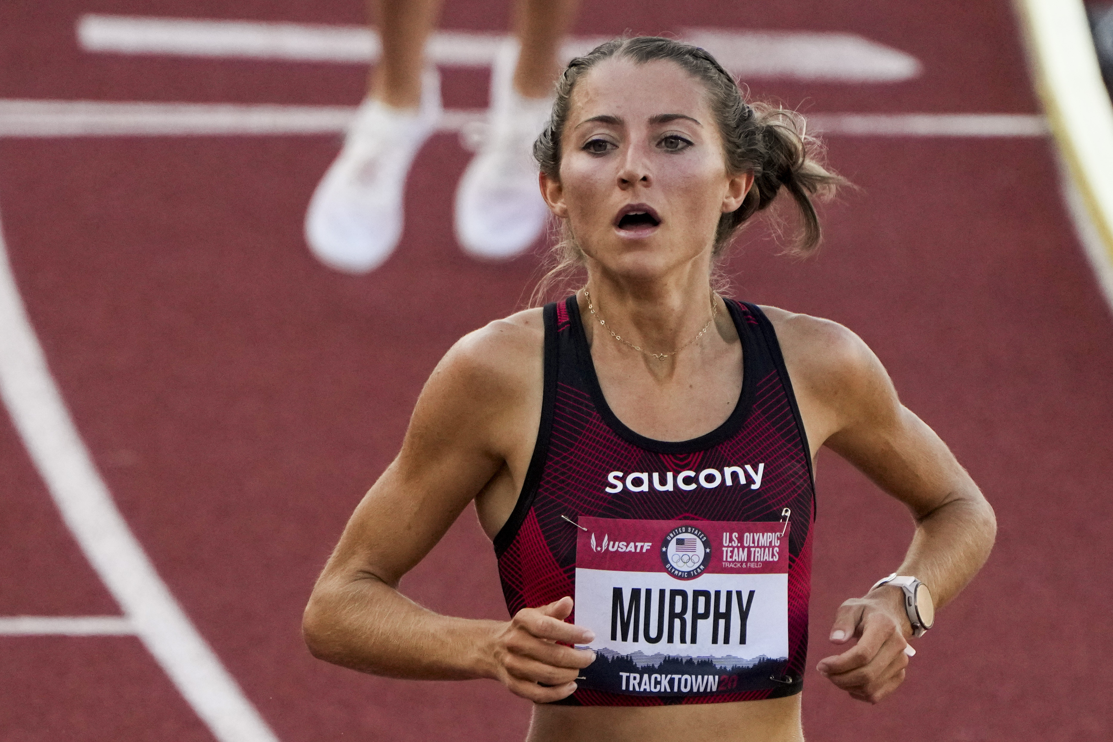 Grayson Murphy, a West High grad who ran at the University of Utah, and BYU's Courtney Wayment, a Davis High grad, finished 1-2 in the first heat of the 3,000-meter steeplechase.