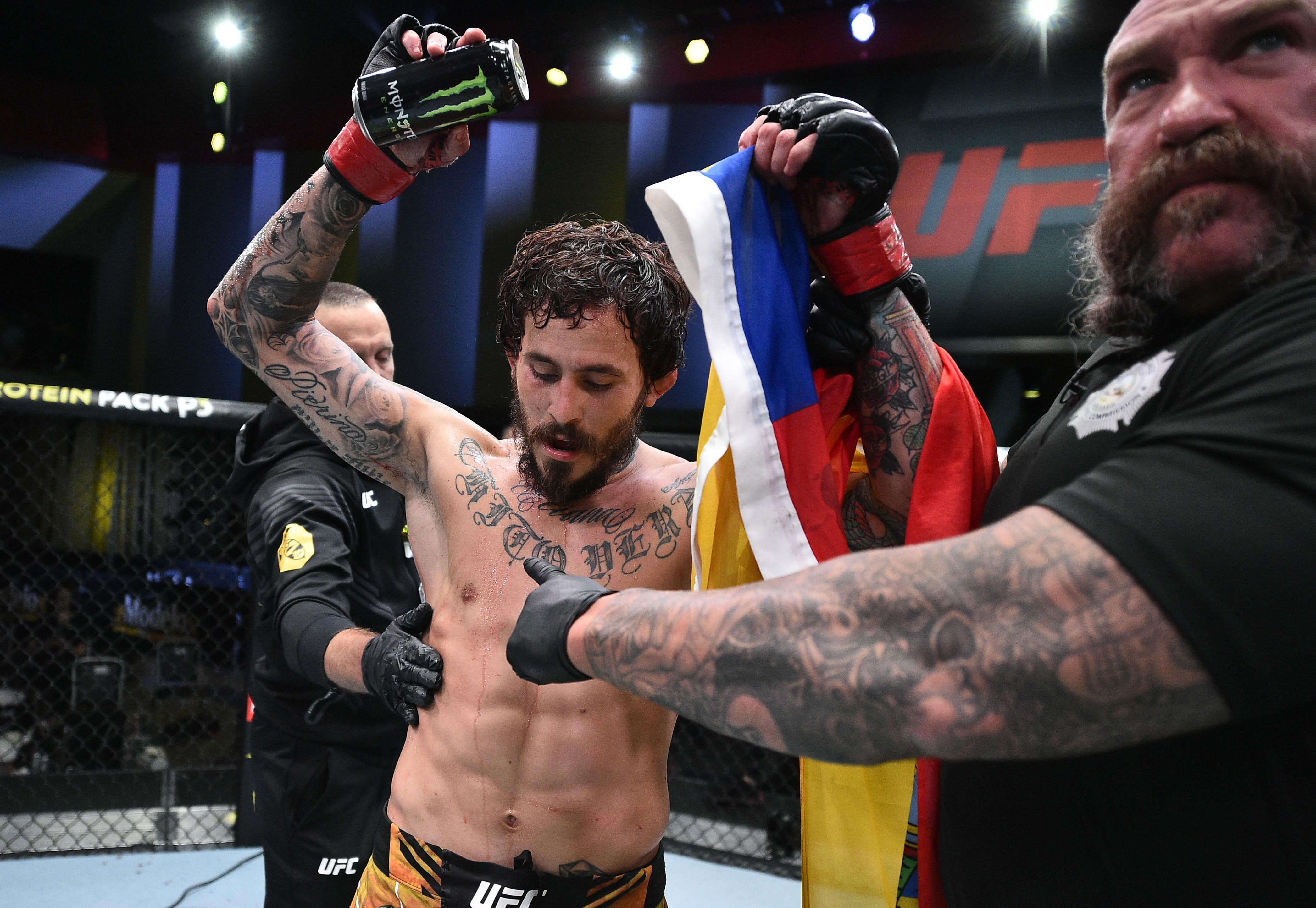 Marlon Vera after defeating Davey Grant at UFC Vegas 29