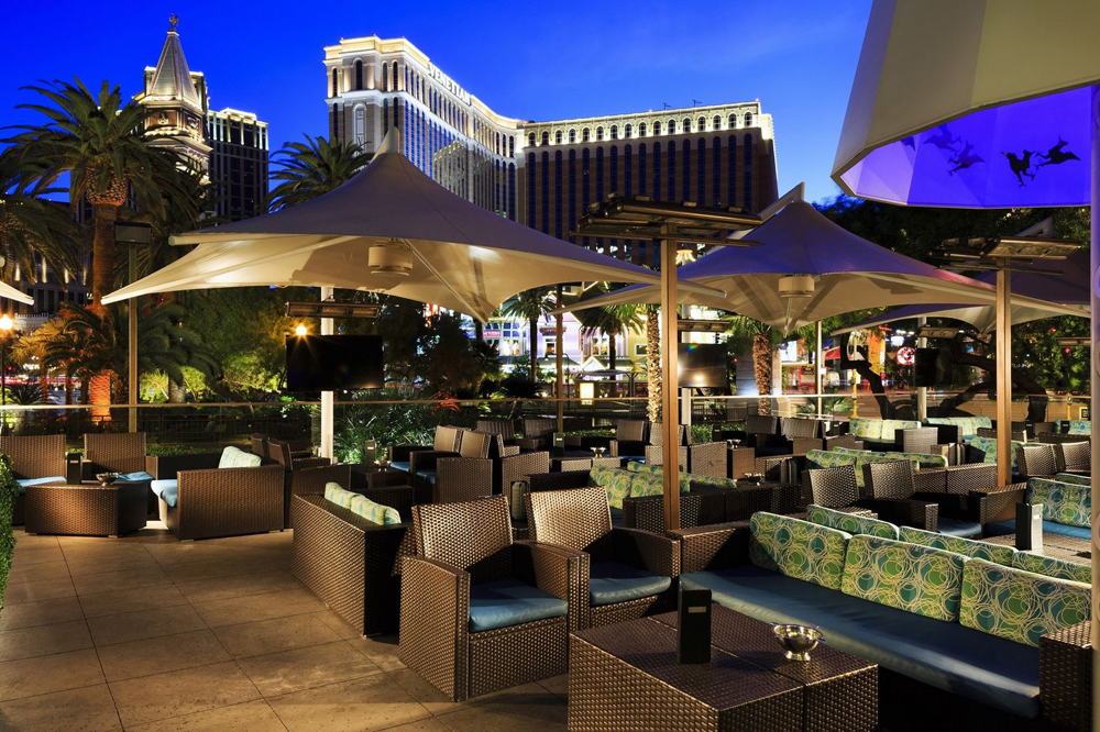 The patio of the Rhumbar cigar and cocktail lounge at the Mirage, closing this month to be replaced by a new ultra-lounge.