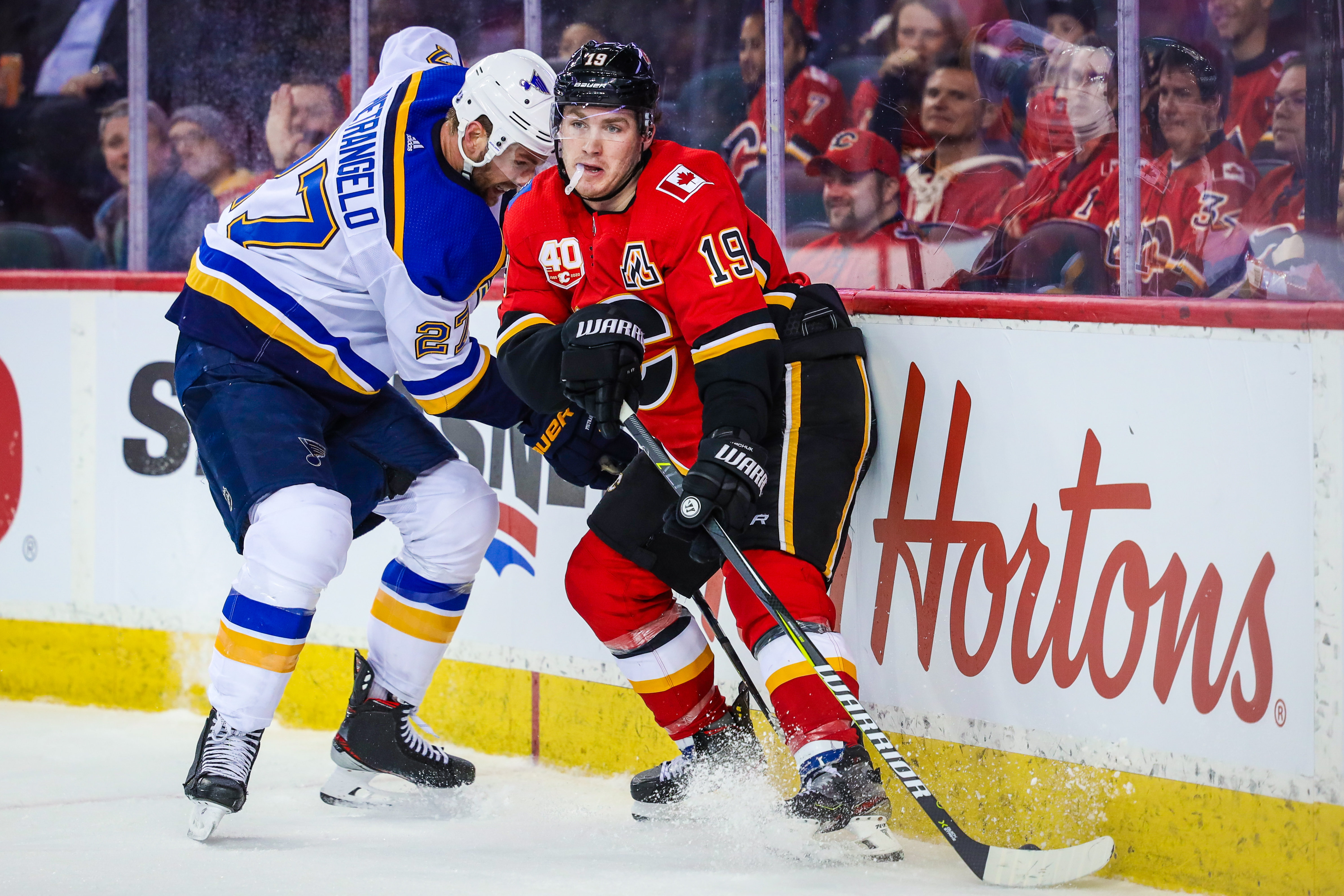 NHL: St. Louis Blues at Calgary Flames