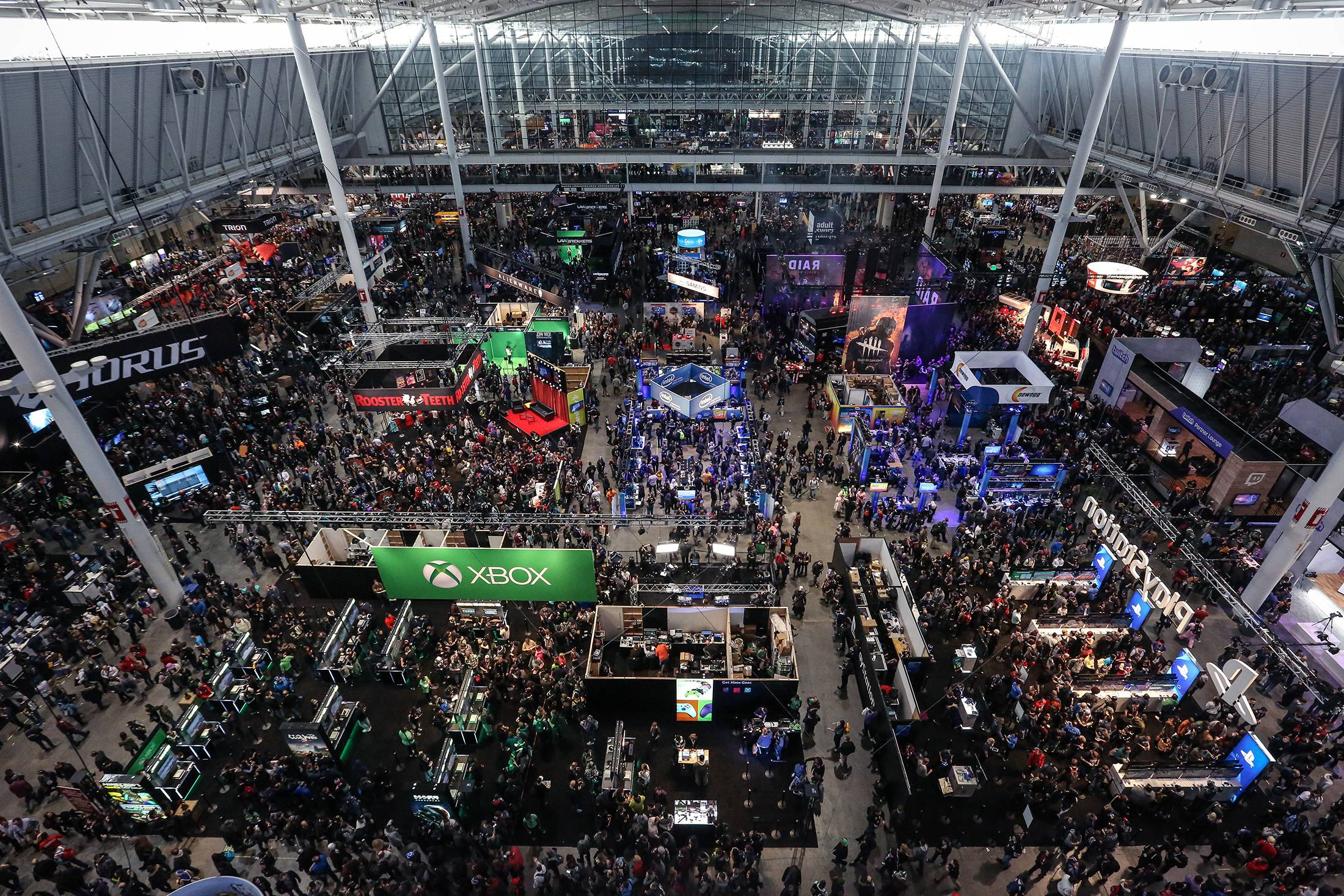 a shot of the convention center for PAX East