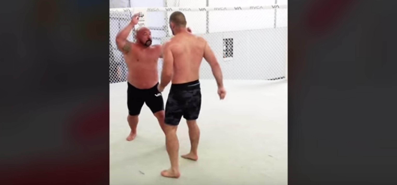 UFC fighter Sean Strickland threw a forearm and kick at training partner Orlando Sanchez.