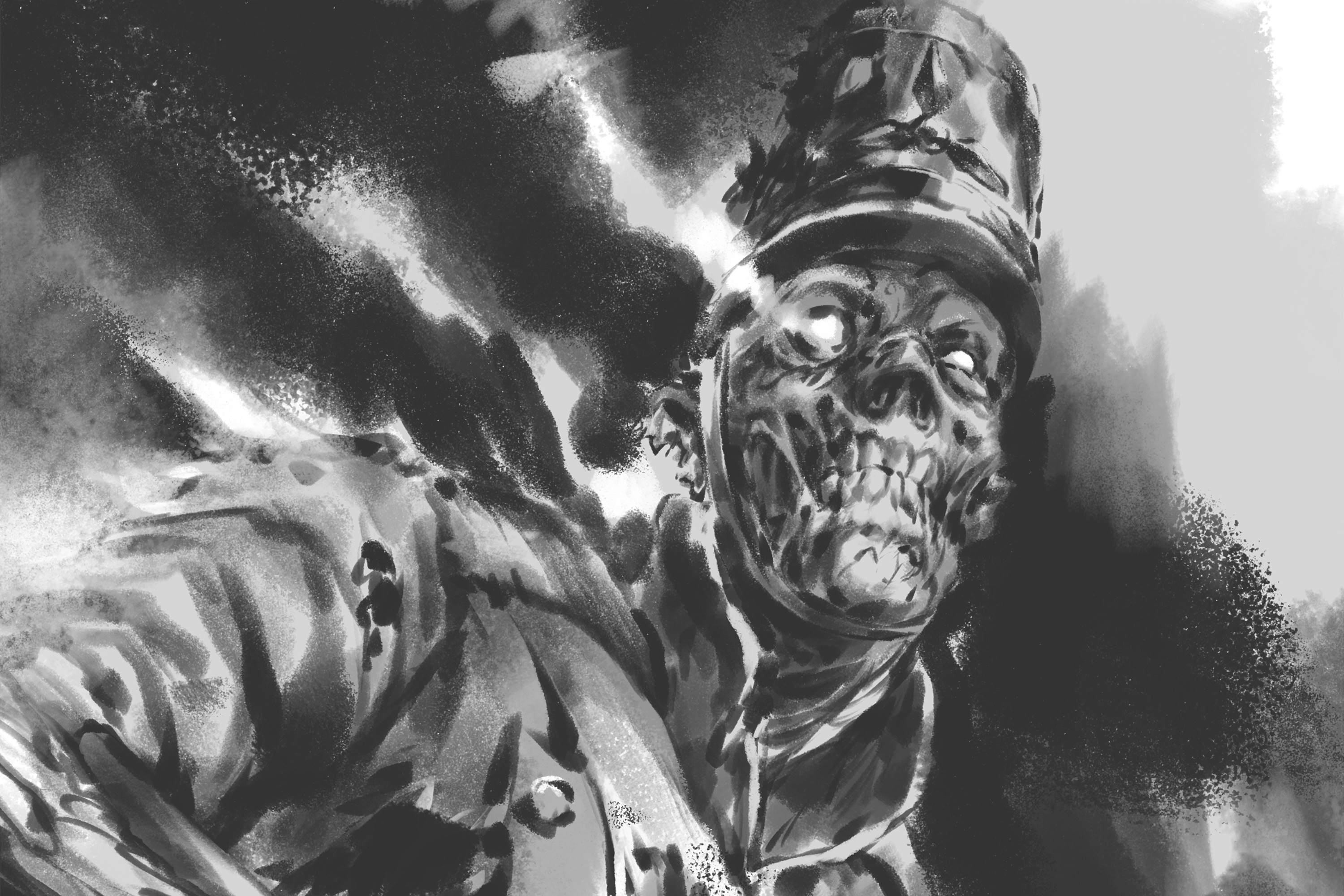 A zombified soldier from Napolean's Grand Army as portrayed in Silver Bayonet