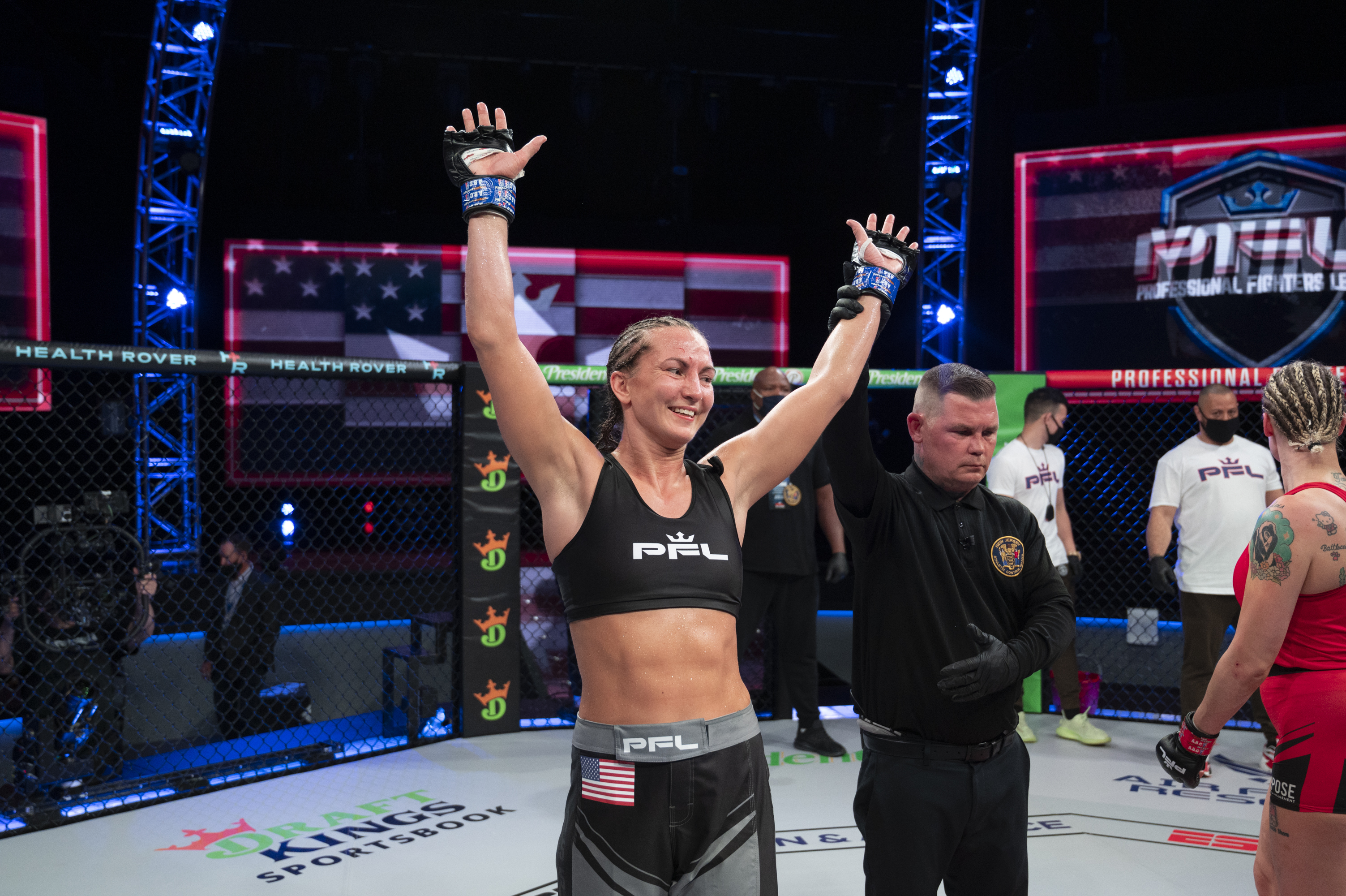 Kaitlin Young after beating Cindy Dandois at PFL.