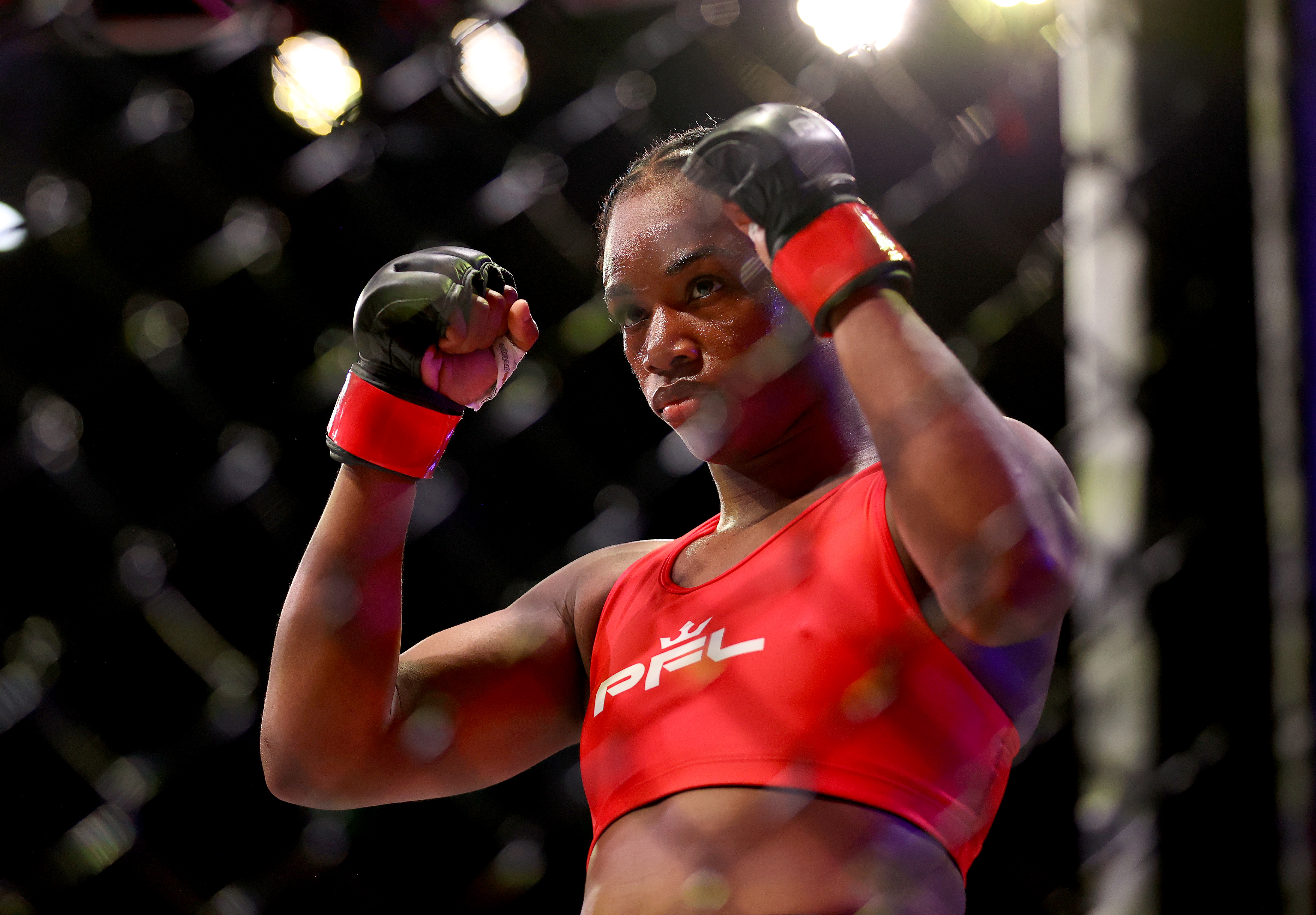 Claressa Shields before her fight against Brittney Elkin at PFL 4.