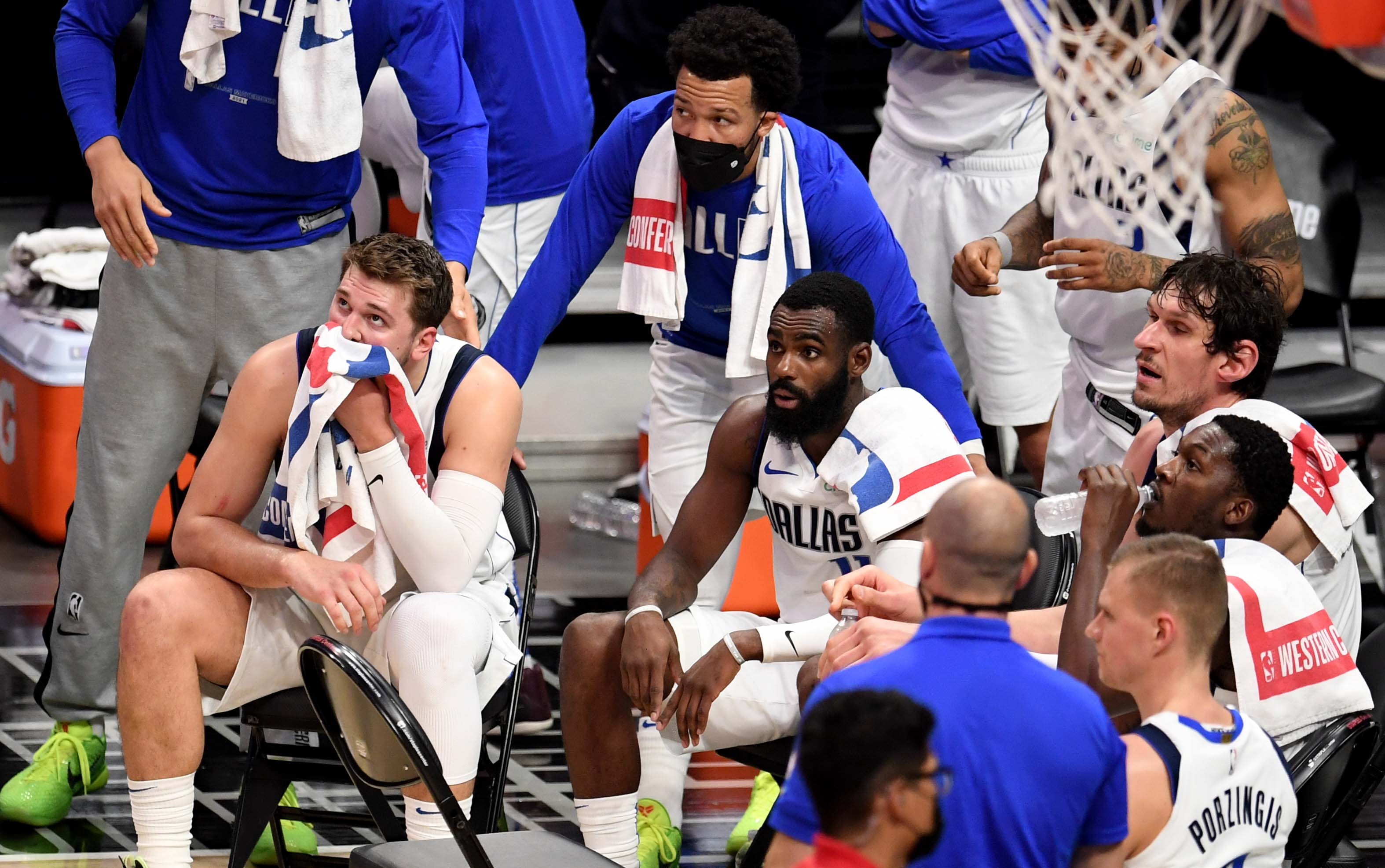 LA Clippers advance to the second round after defeating the Dallas Mavericks 126-111 during game seven of the Western Conference First Round NBA Playoff basketball game.