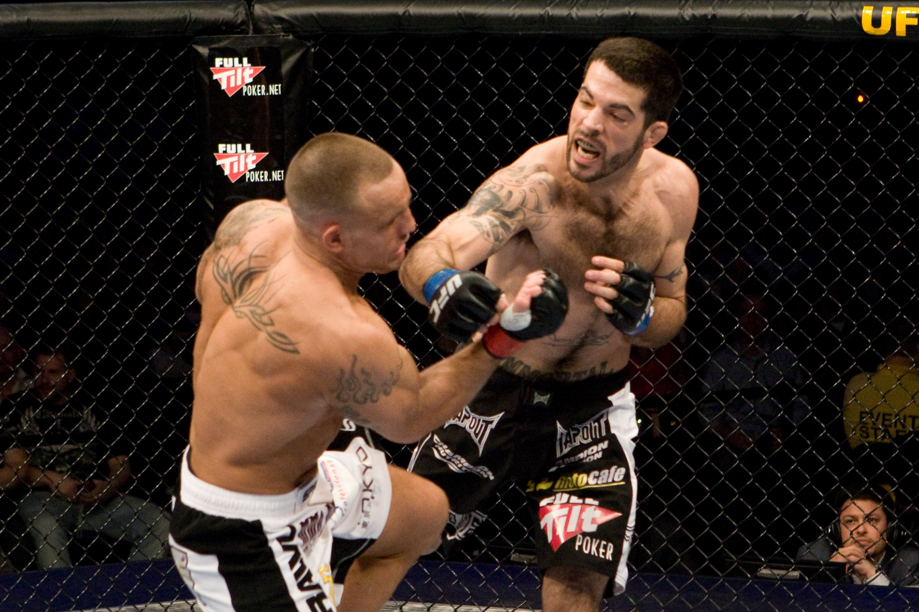 Matt Brown (unofficially) TKOd Pete Sell twice during their UFC 96 fight in 2009.