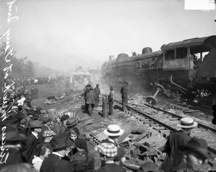 The Hagenbeck-Wallace Circus train crash in Hammond, Indiana