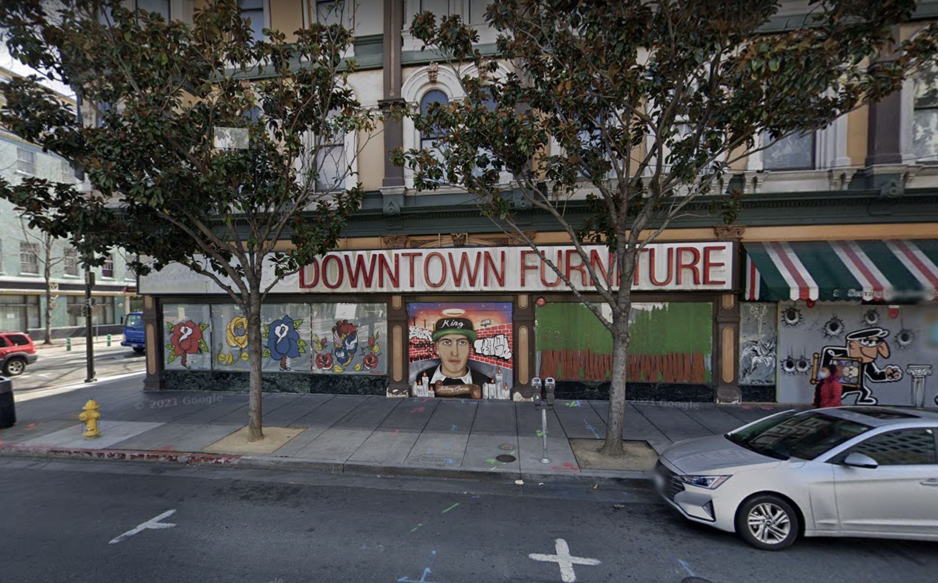 A photo of 93 E. Santa Clara Street in San Jose, knwon as the Odd Fellows Building