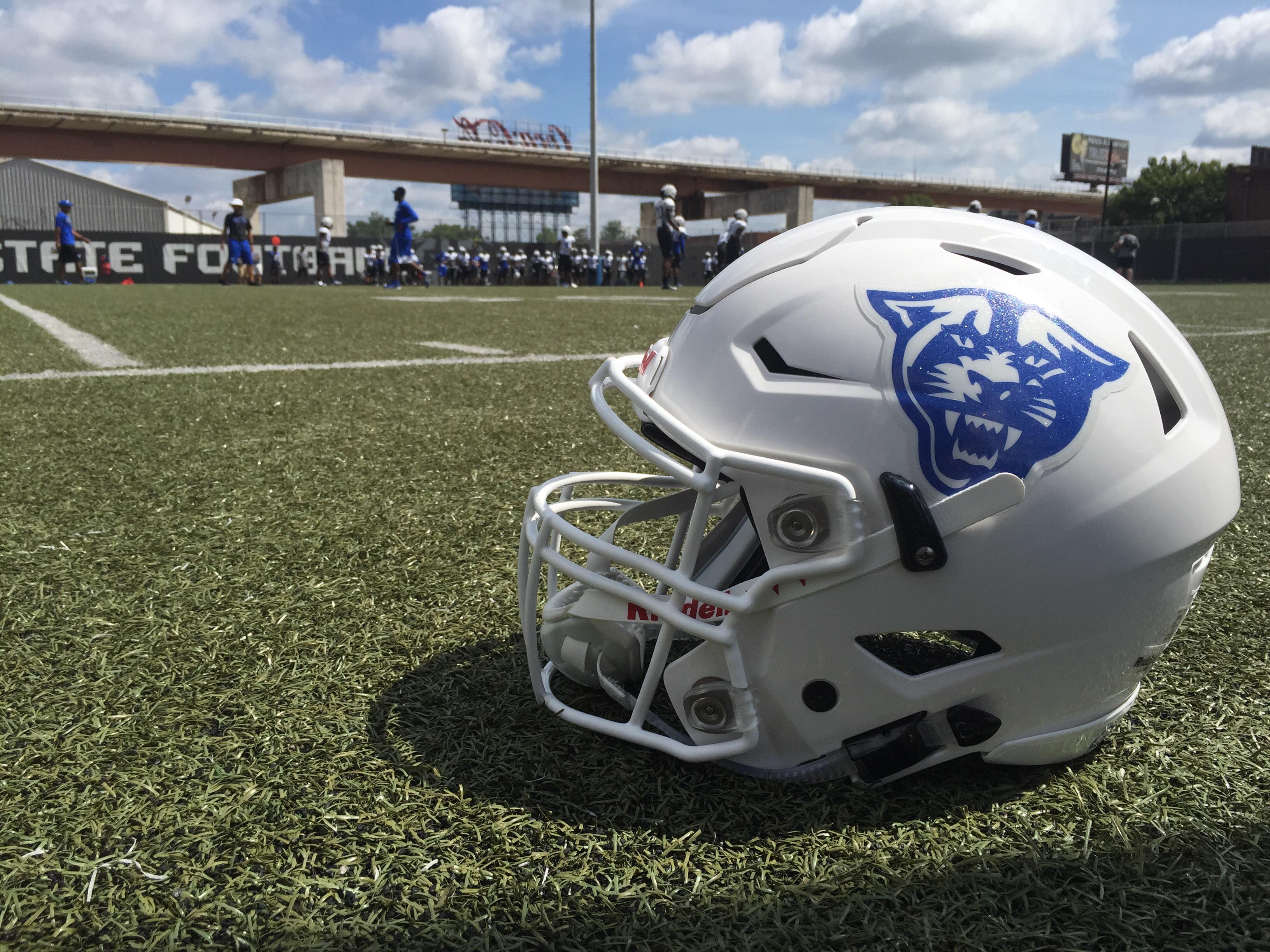 White PH Helmet Practice Feild