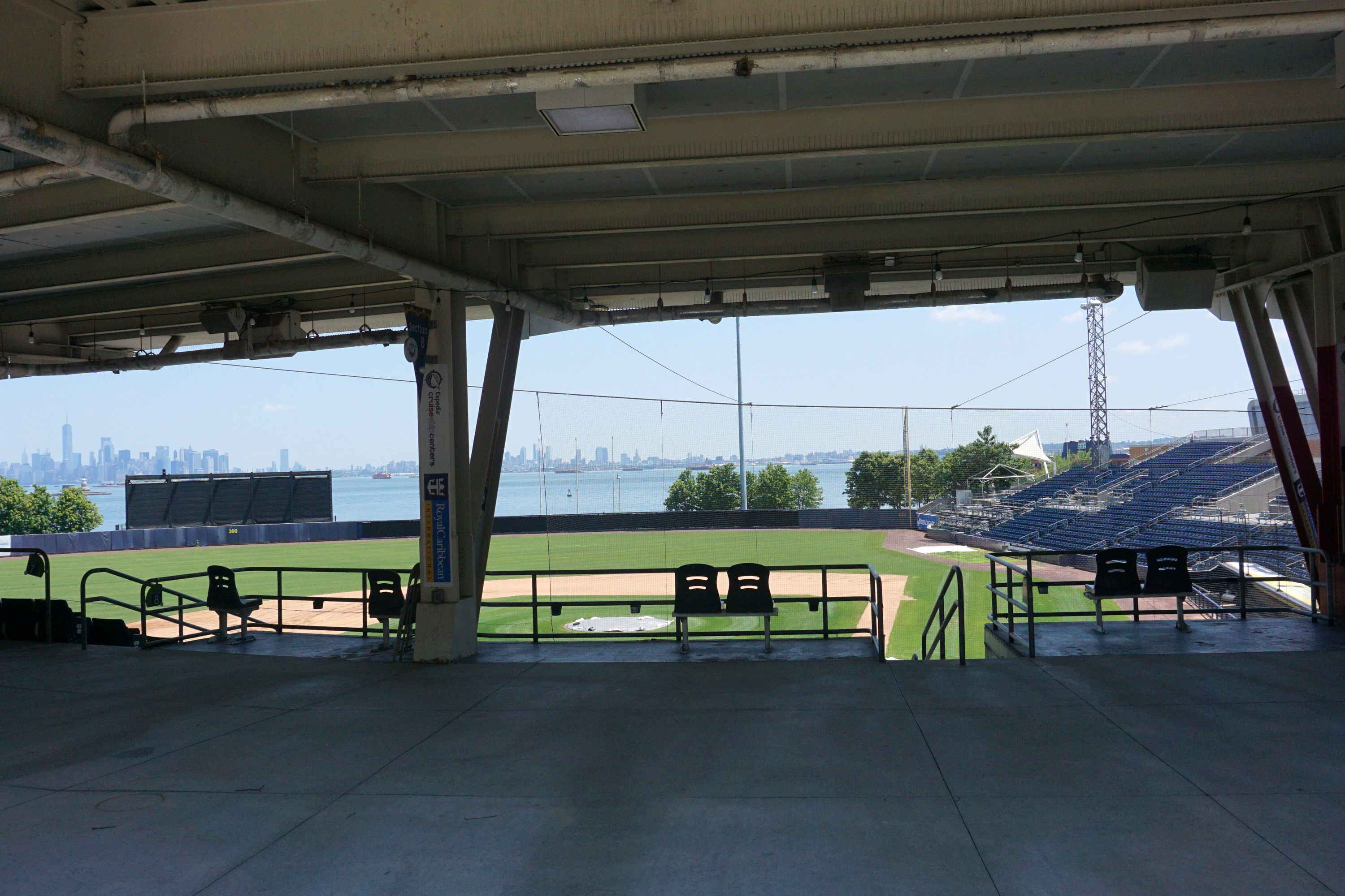Richmond County Bank Ballpark, a stadium near the Staten Island Ferry Terminal which leases land from New York City, July 2, 2020.