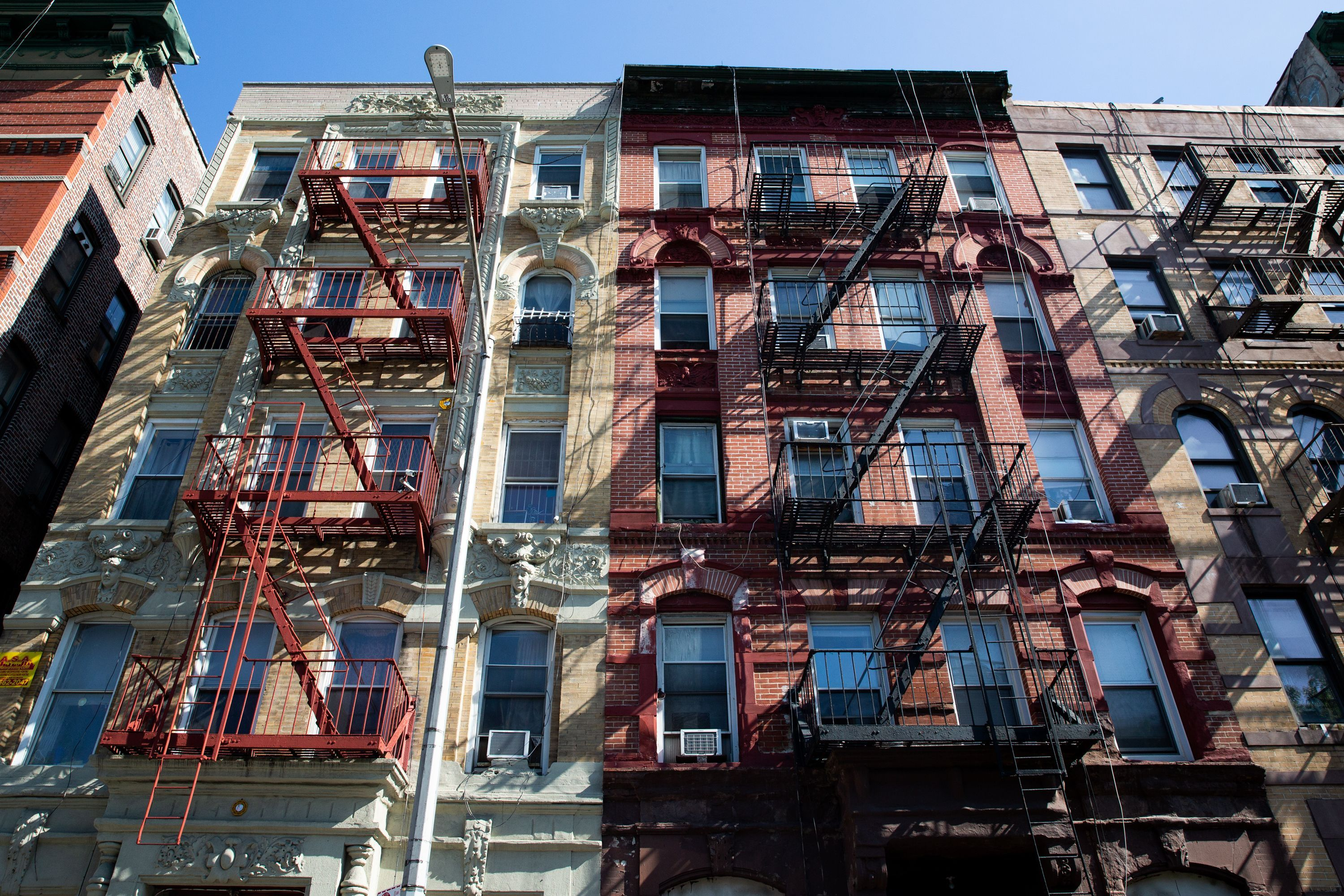 A row of buildings with rent stabilized units on Henry Street in the Lower East Side.