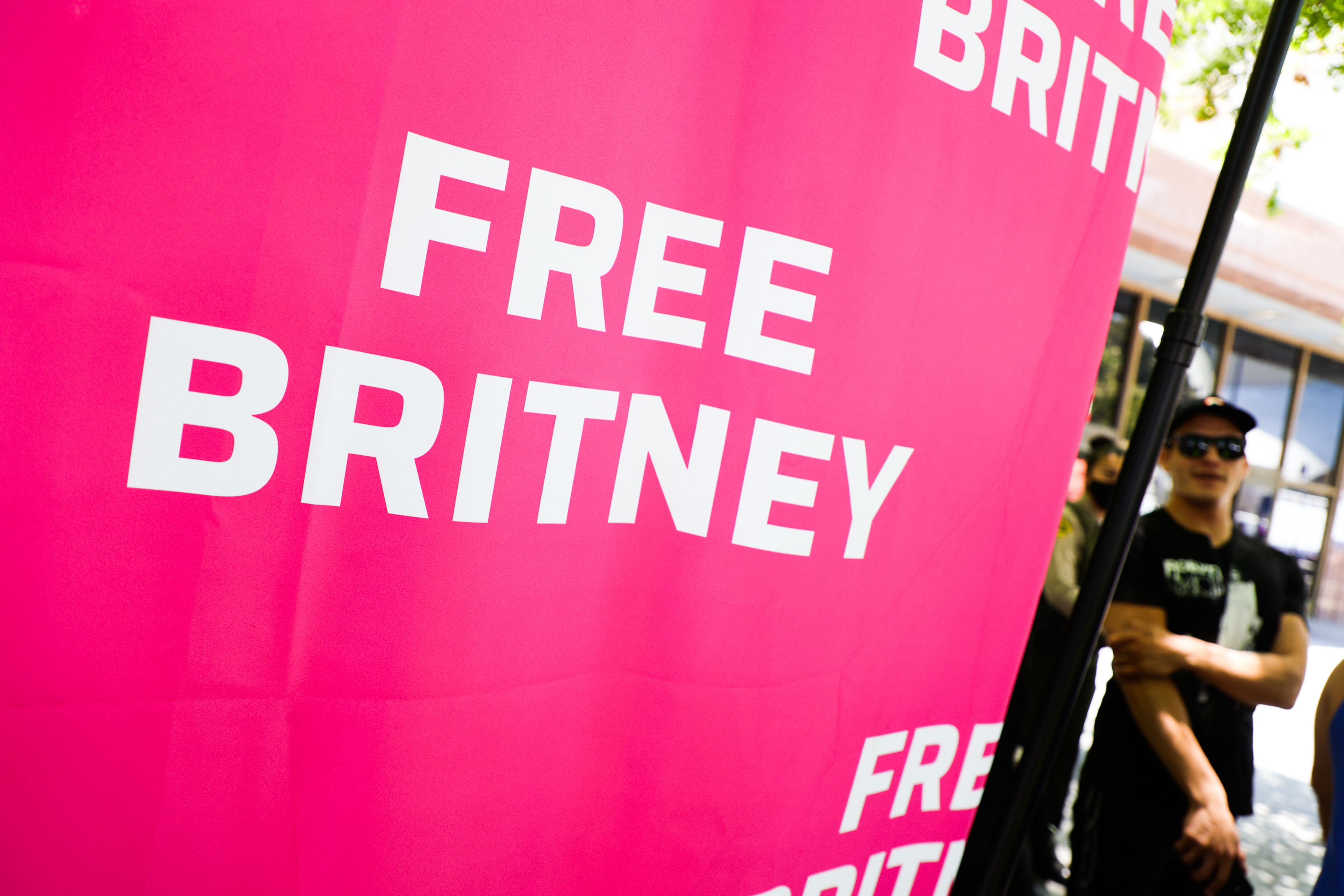 #FreeBritney Rally In Los Angeles During Conservatorship Hearing
