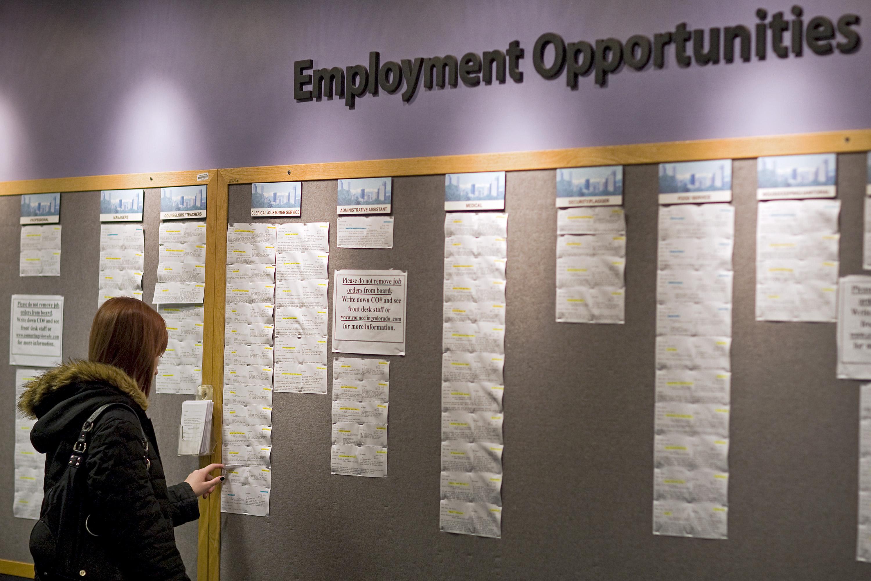 Job Seekers At Denver Workforce Center