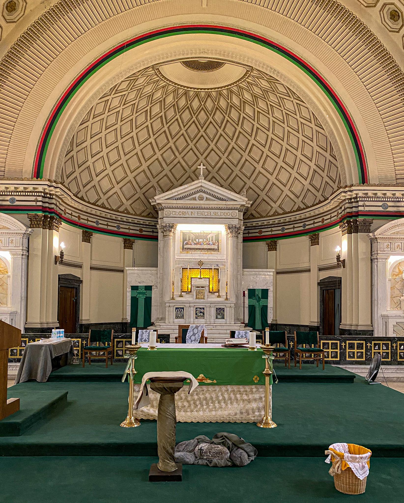 The altar inside Corpus Christi Church, 4920 S. Dr. Martin Luther King Jr. Dr.