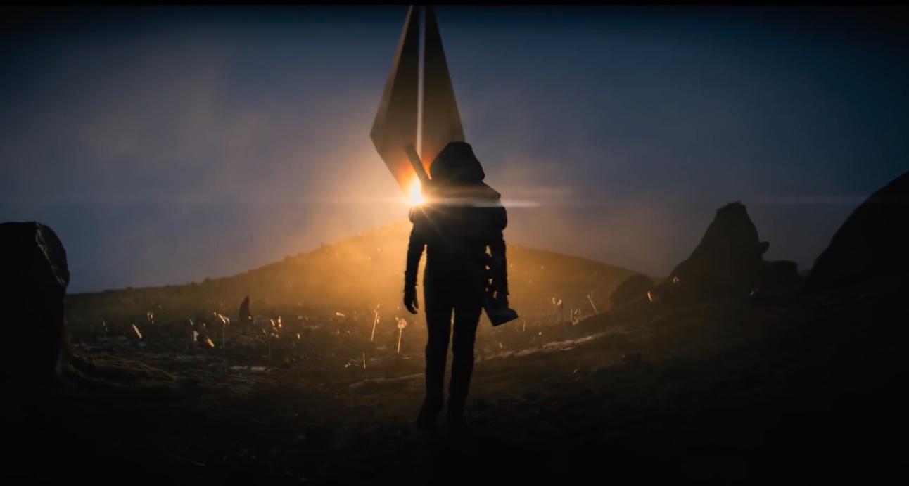 Foundation: A soldier walks toward a castle on an alien planet