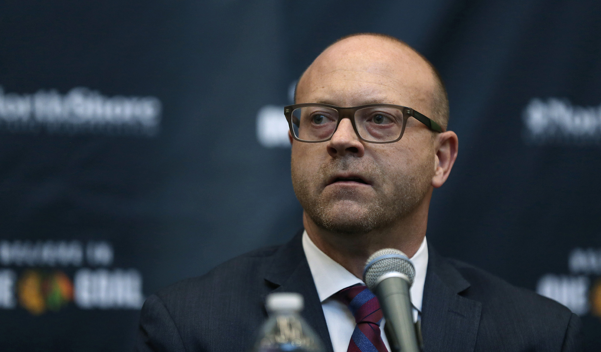 Blackhawks GM Stan Bowman says team not close to making trade despite having millions in salary-cap space