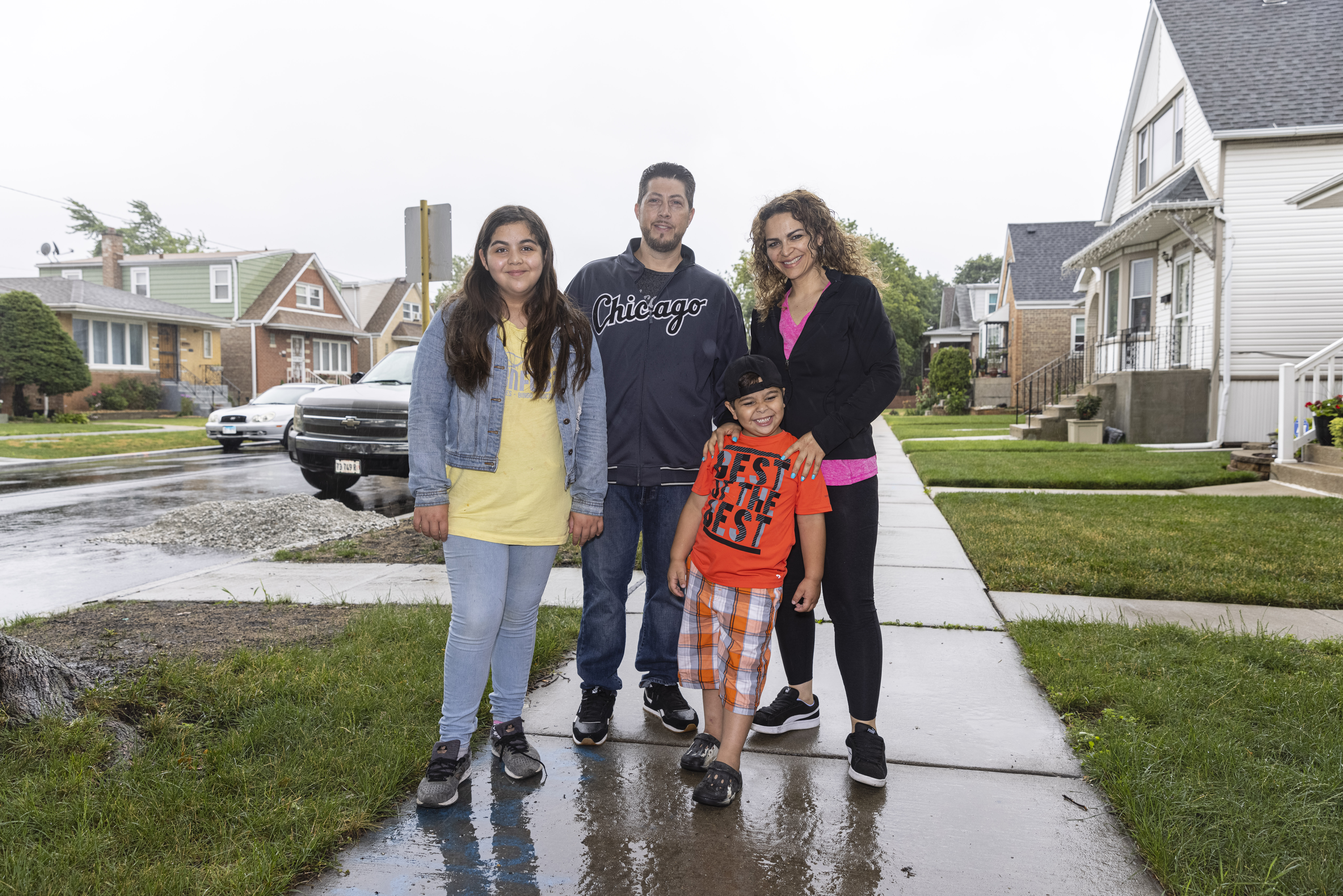 Gianna, Anthony, Roman and Suzanne Lucio of  Archer Heights are among families who are considering whether to receive Child Tax Credit payments starting July 15.