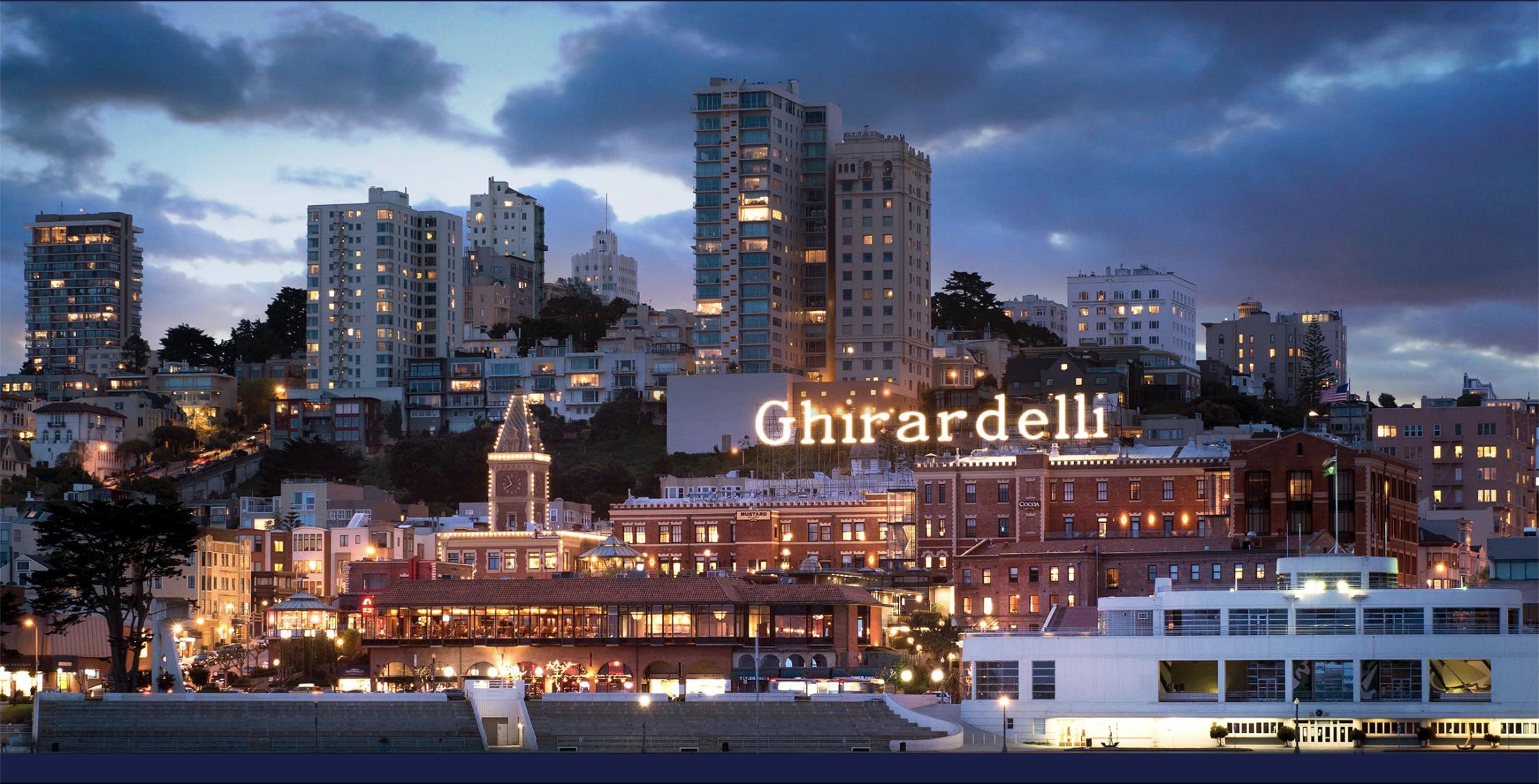 Ghirardelli Square at night