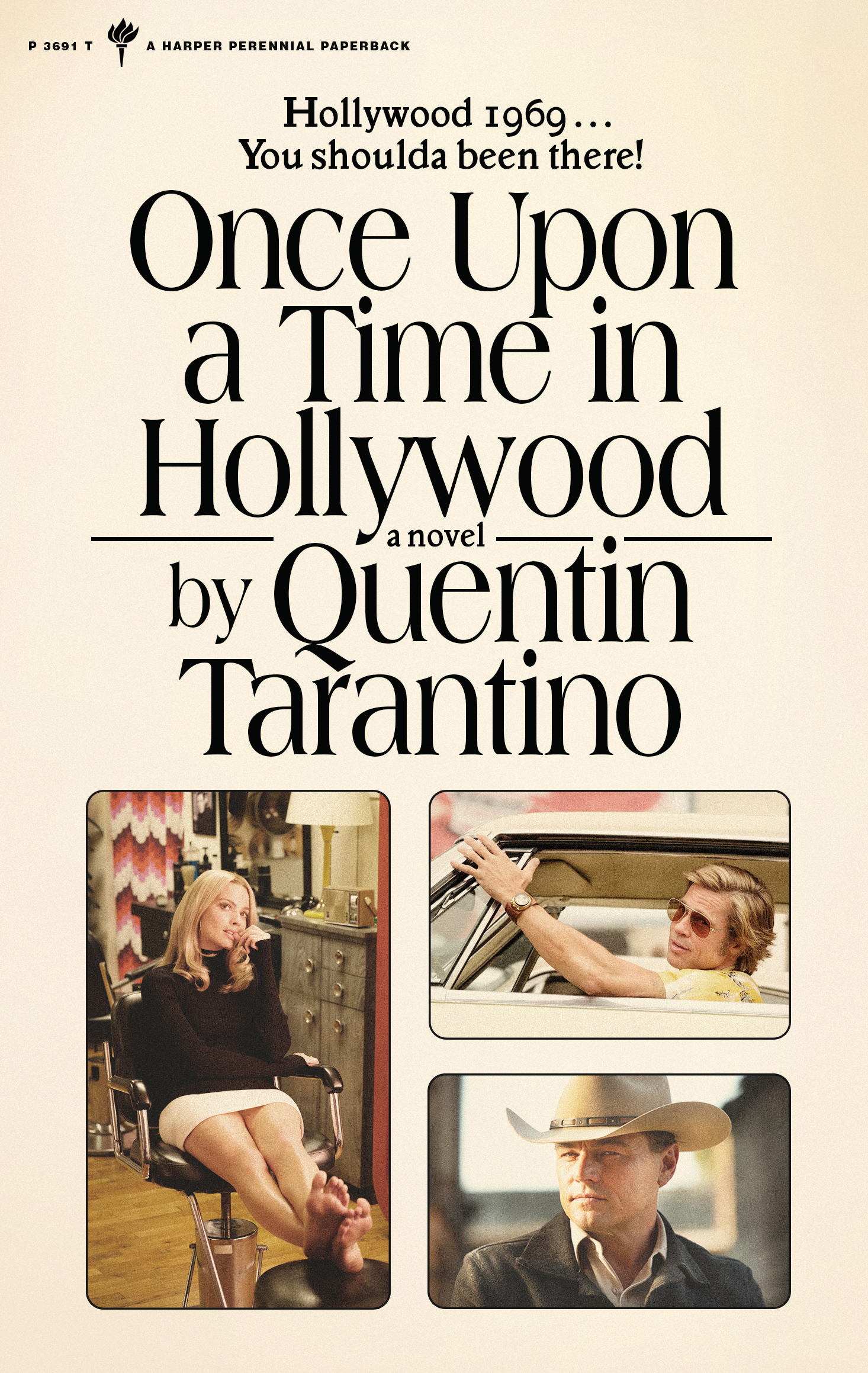 The cover of Quentin Tarantino's novelization of his 2019 movie Once Upon a Time in Hollywood