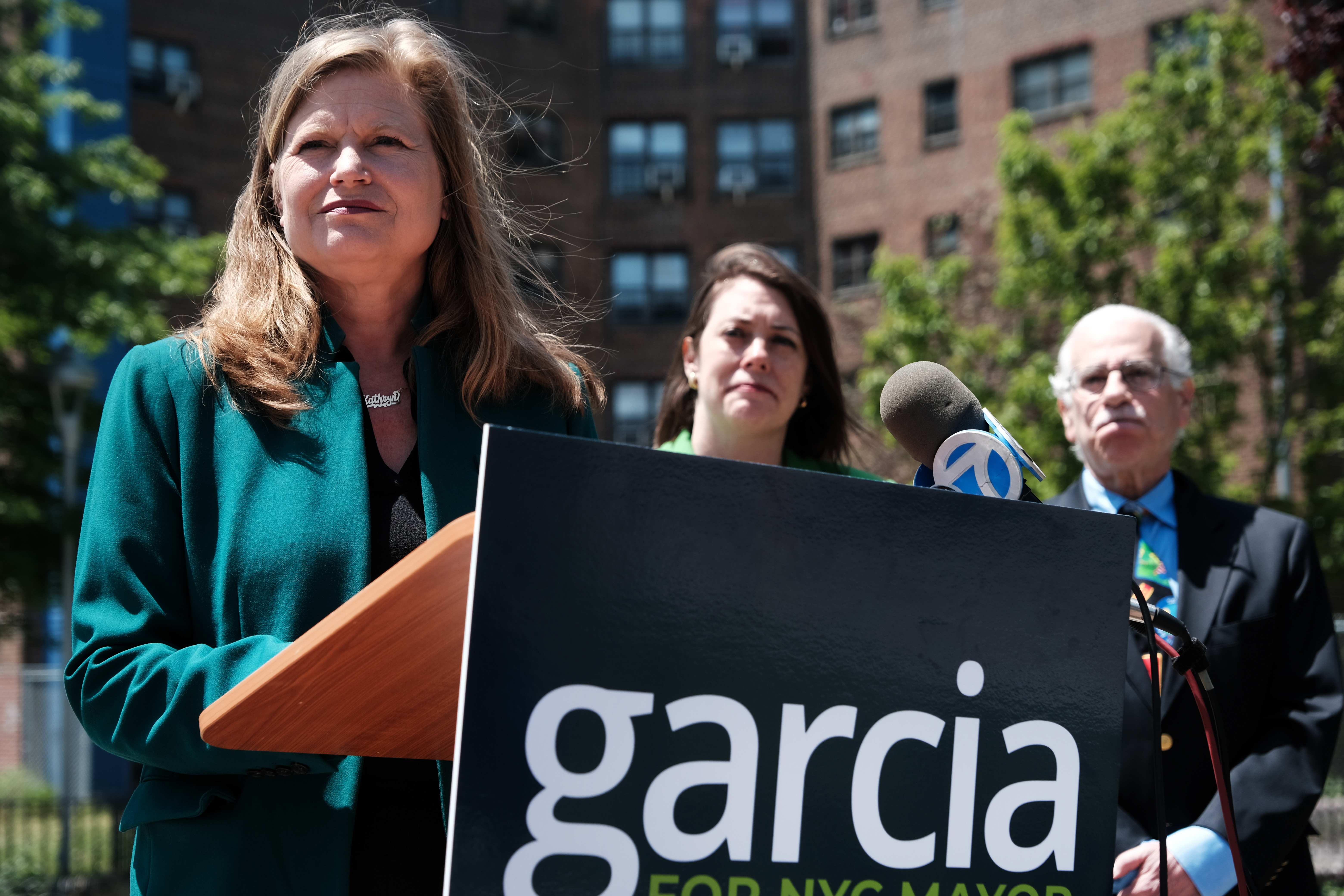 New York City mayoral candidate Kathryn Garcia in Queens on May 25, 2021. If Garcia becomes the next mayor, she might downsize the education department and move more money into principals' budgets.