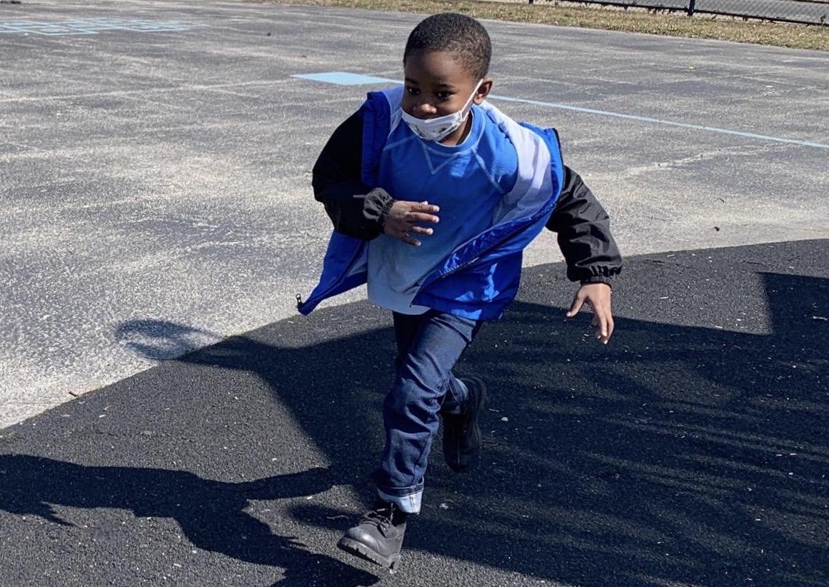 Andre Baker at Richard Wright Elementary School in North Philadelphia.
