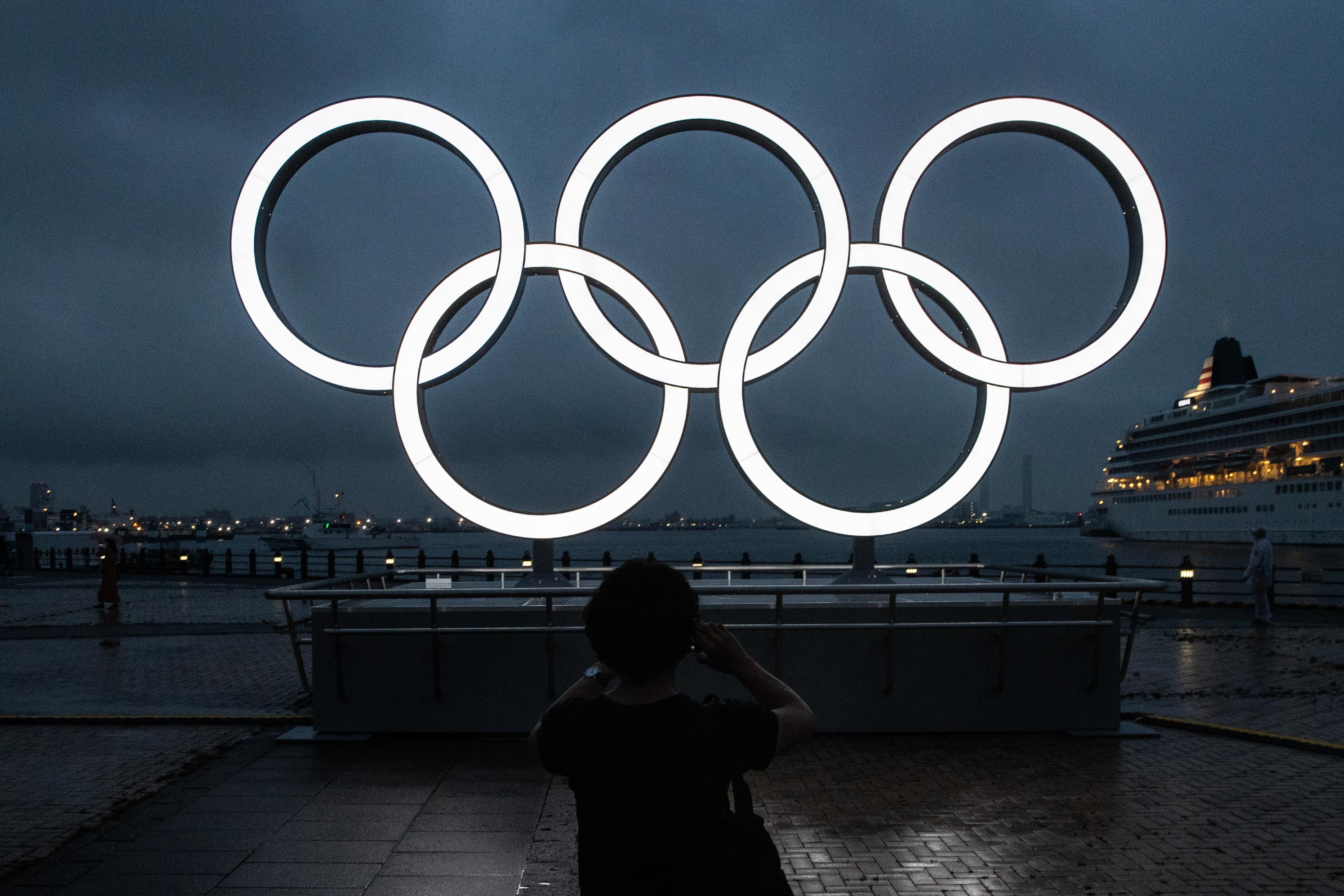 Olympic Rings Unveiled In Yokohama