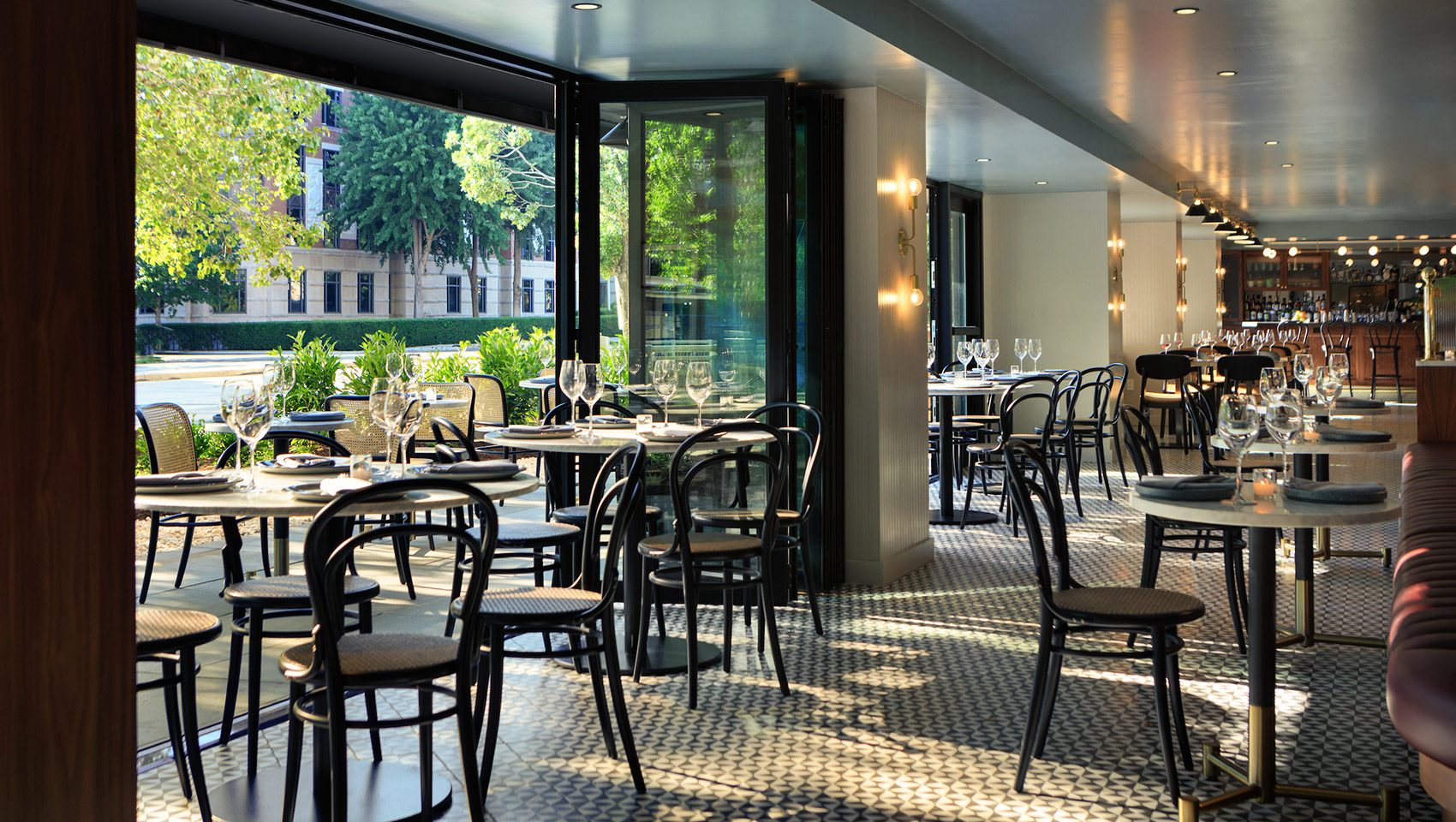 The open air dining room at Le Sel on 16th Street NW