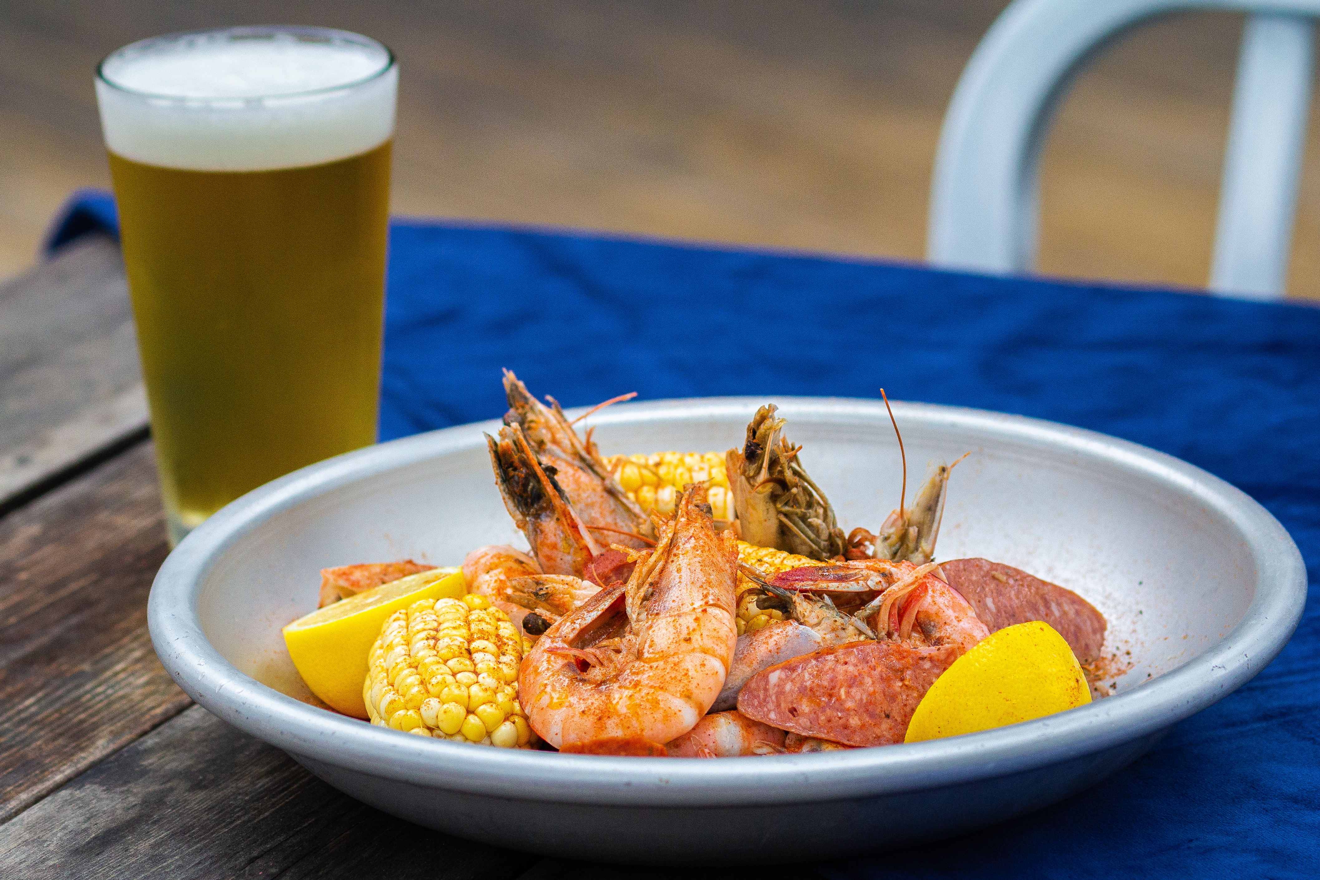 The Gulf shrimp boil at Keepers
