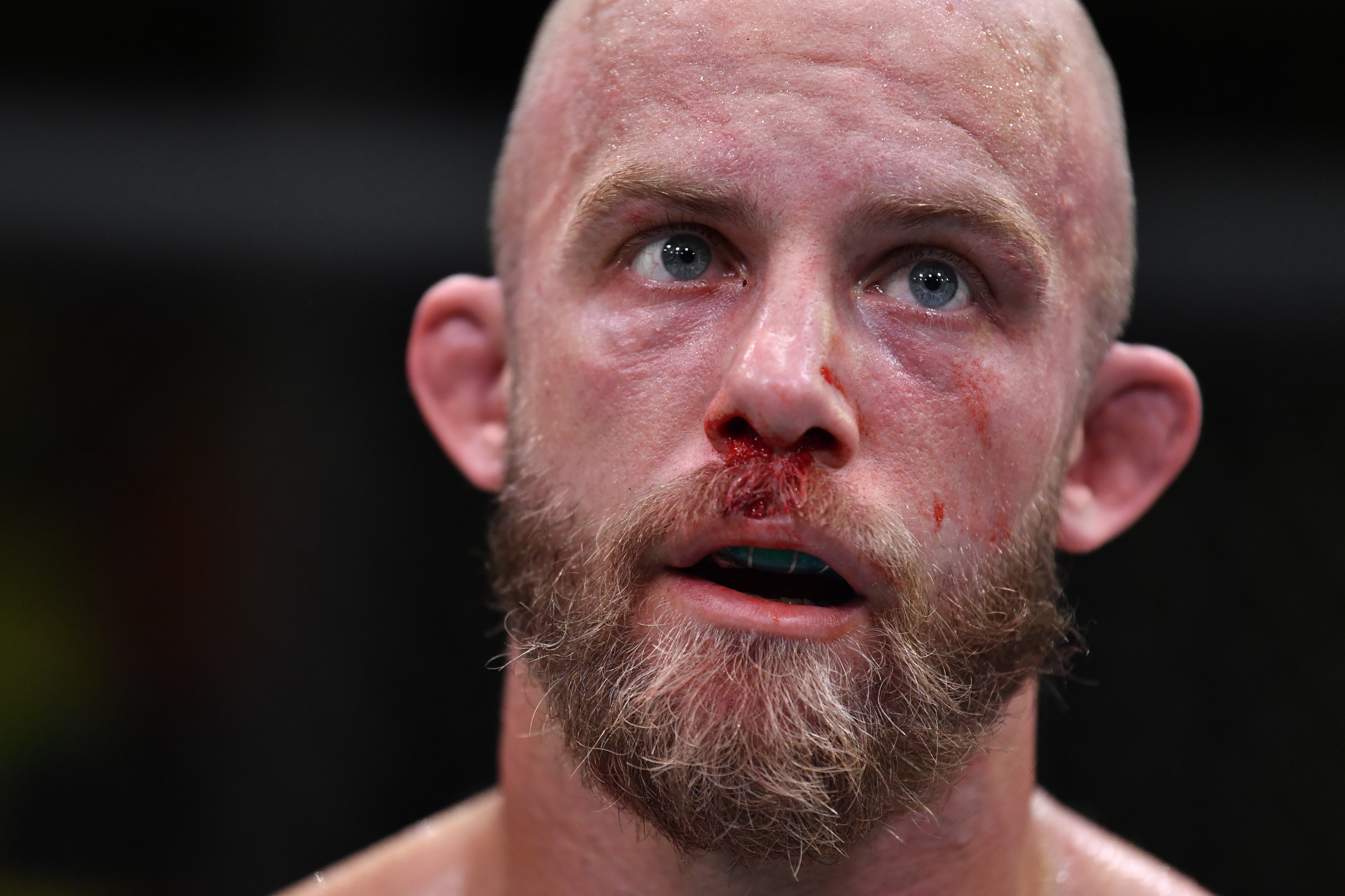 Justin Jaynes after his fight with Charles Rosa at UFC Vegas 30.