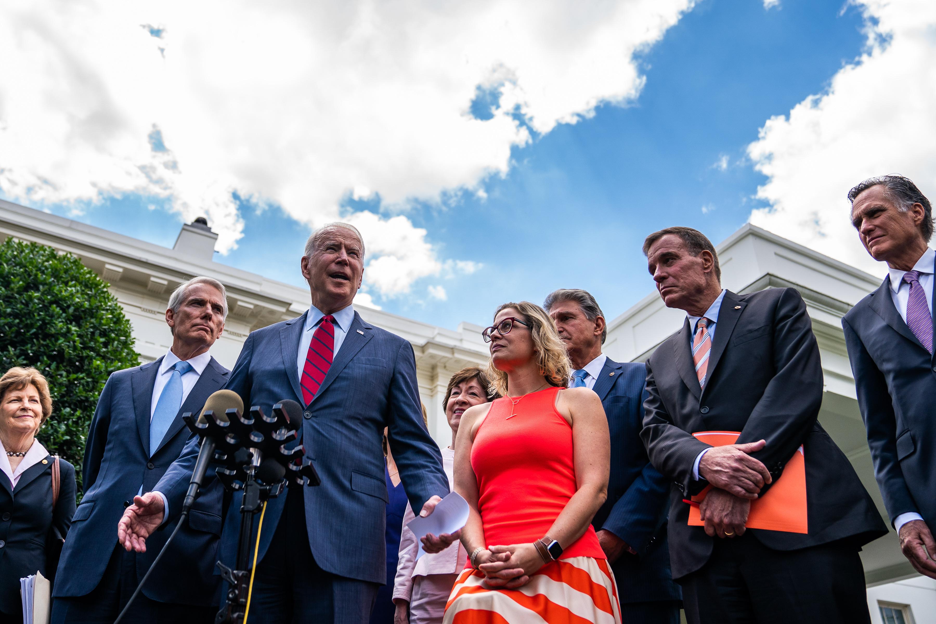 US President Joe Biden infrastructure negations
