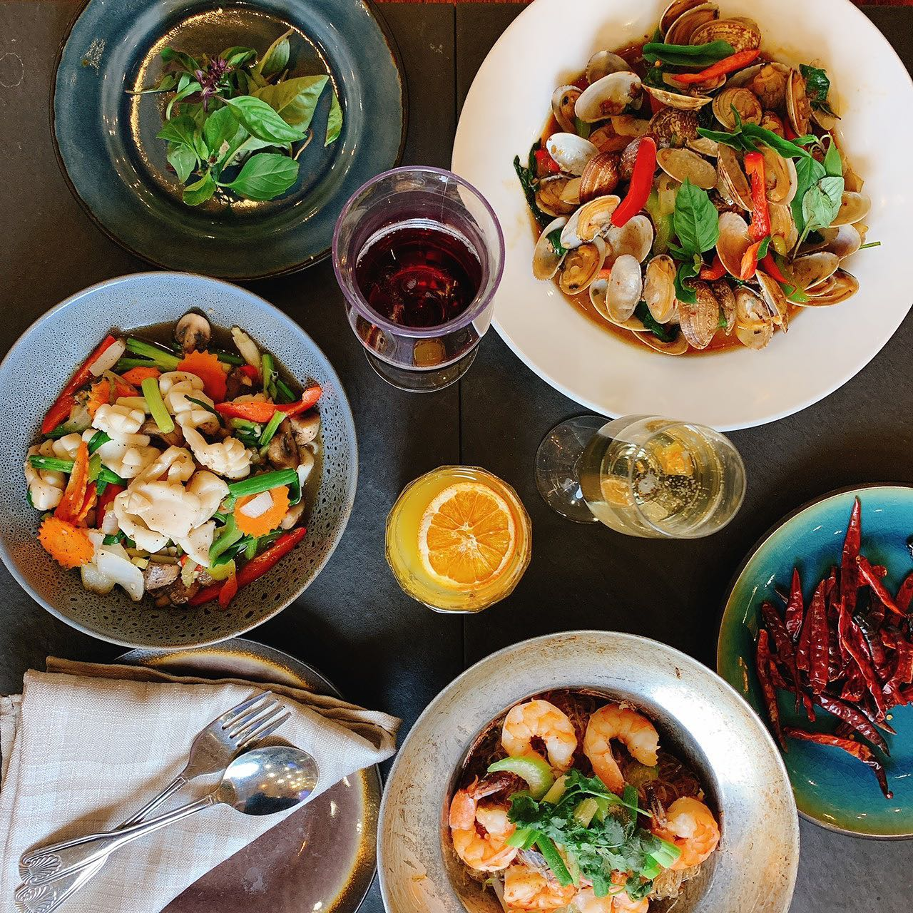 Seafood dishes on the menu at Weera Thai, exapnding latee this year to the southwest.