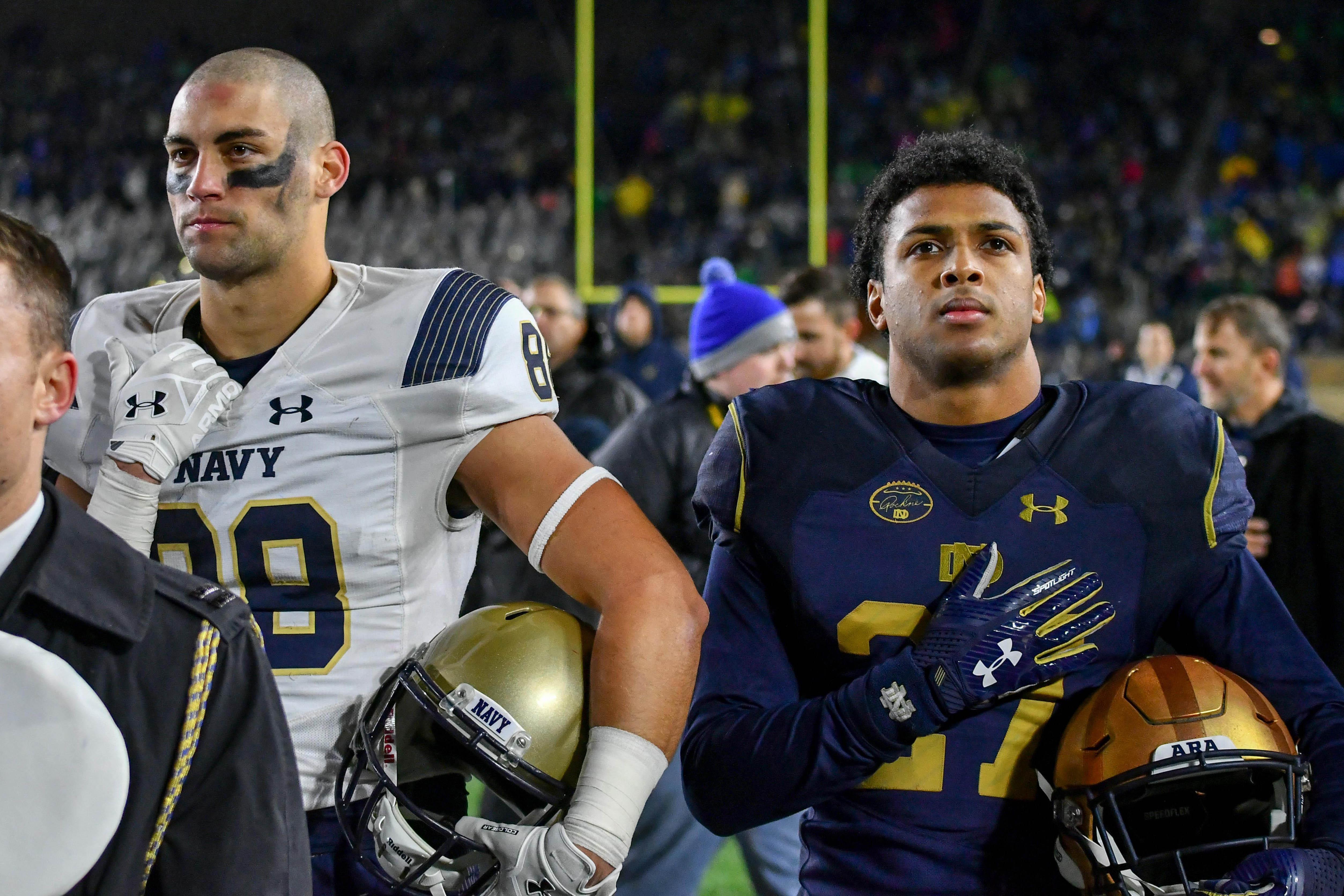 NCAA Football: Navy at Notre Dame
