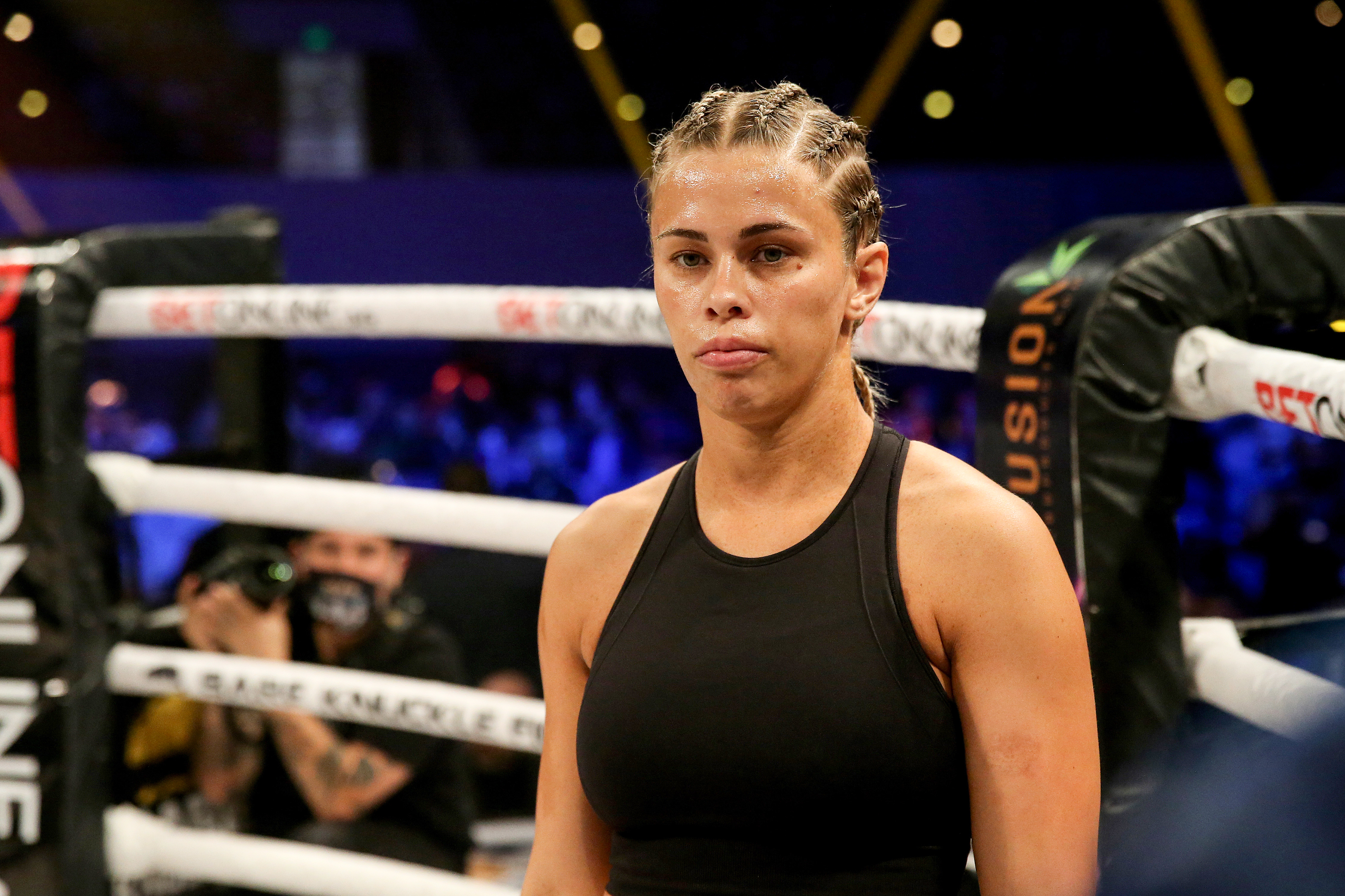 Paige VanZant competes in BKFC