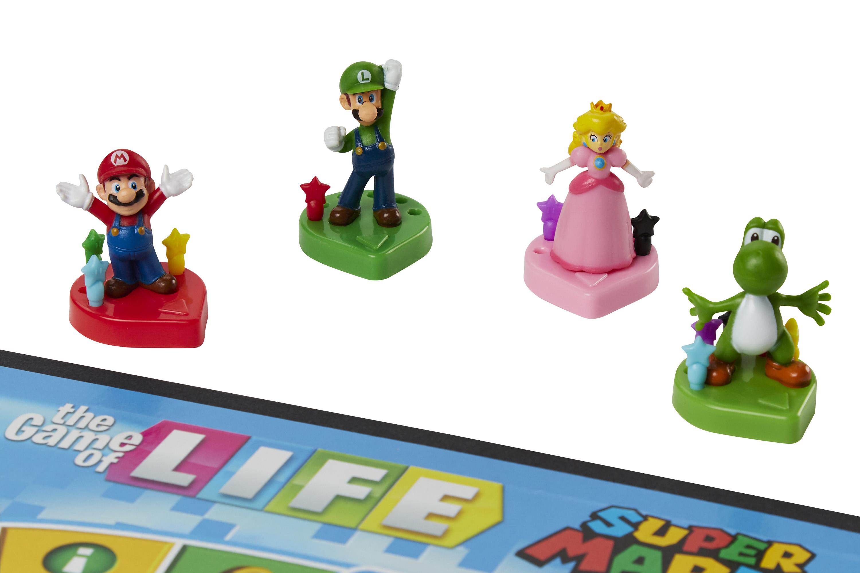 Mario, Luigi, Princess Peach, and Yoshi pawns for The Game of Life: Super Mario Edition