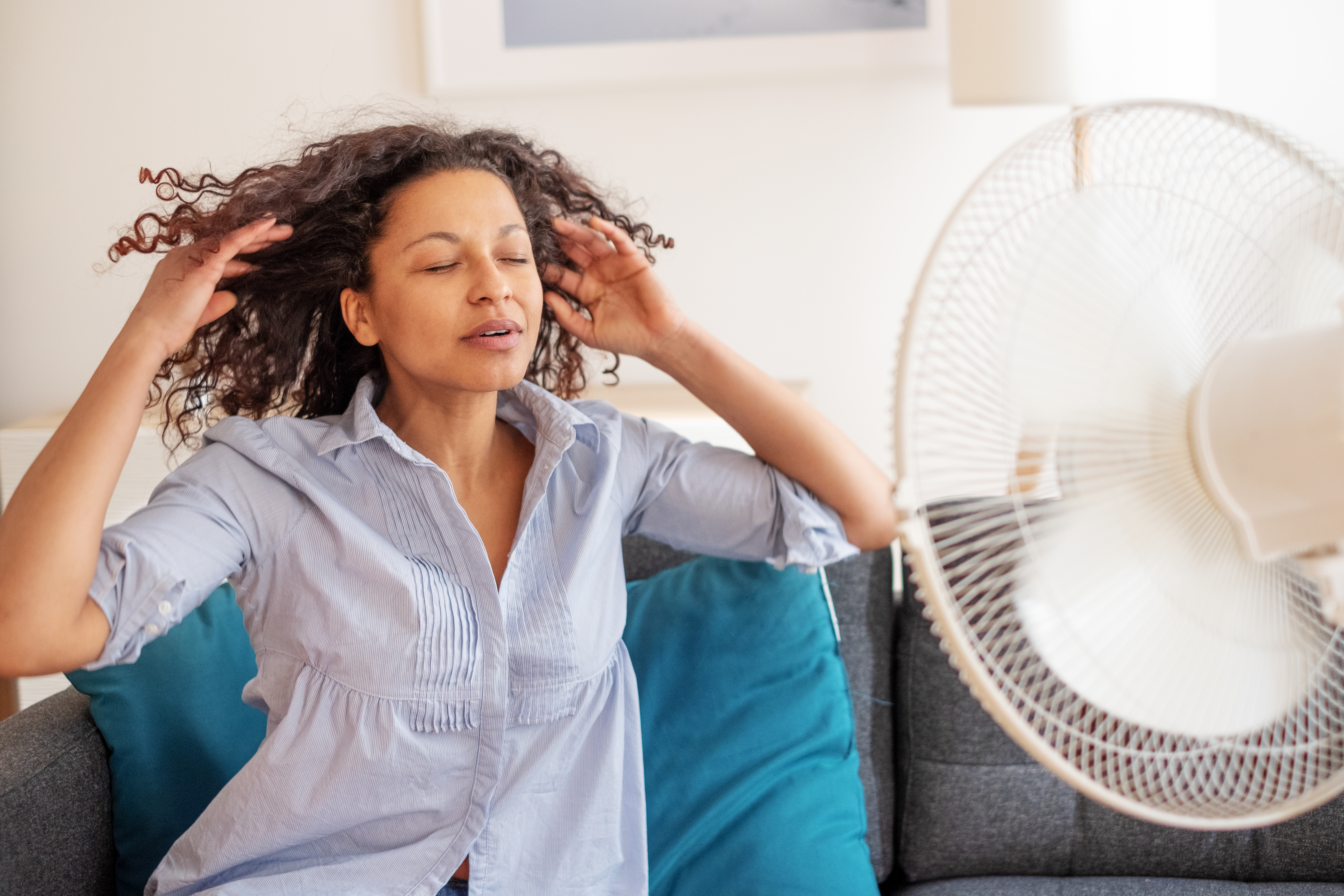 A fan can help you cool down when the summer heat gets to you.