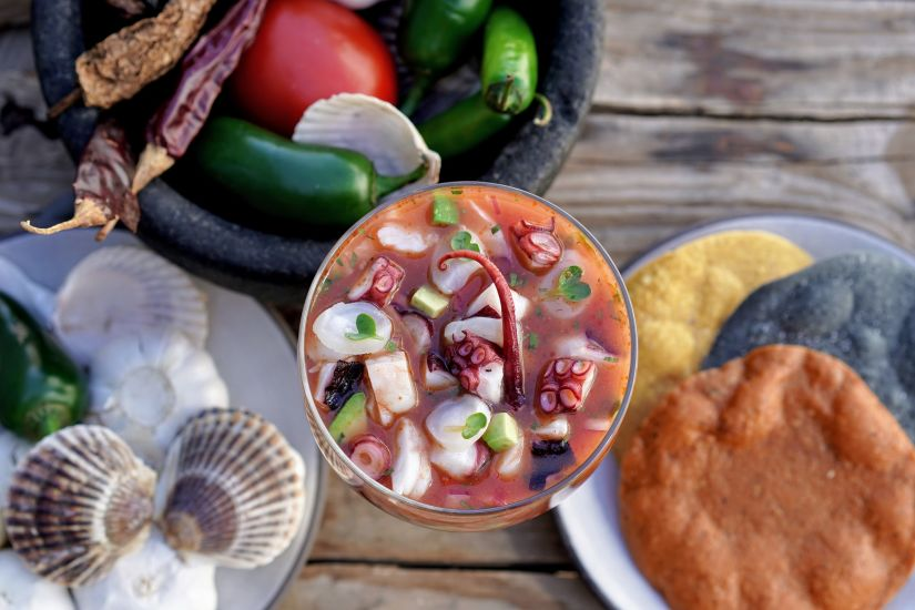 A ceviche with octopus