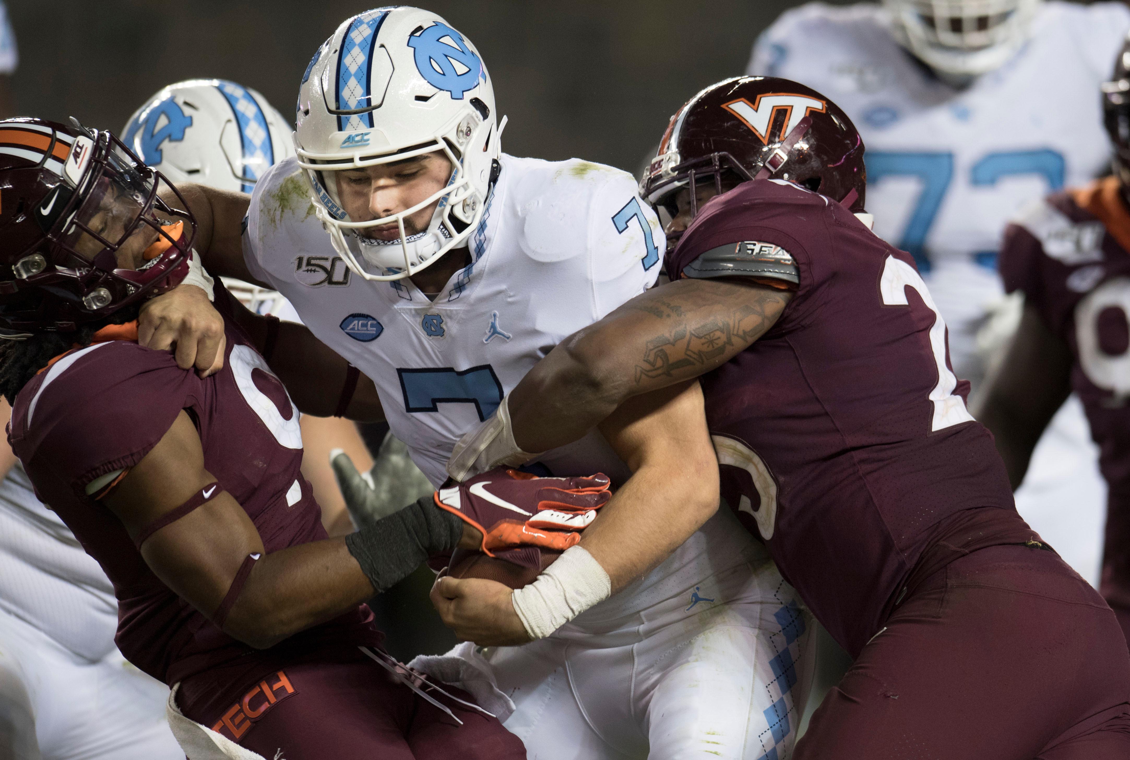 NCAA Football: North Carolina at Virginia Tech