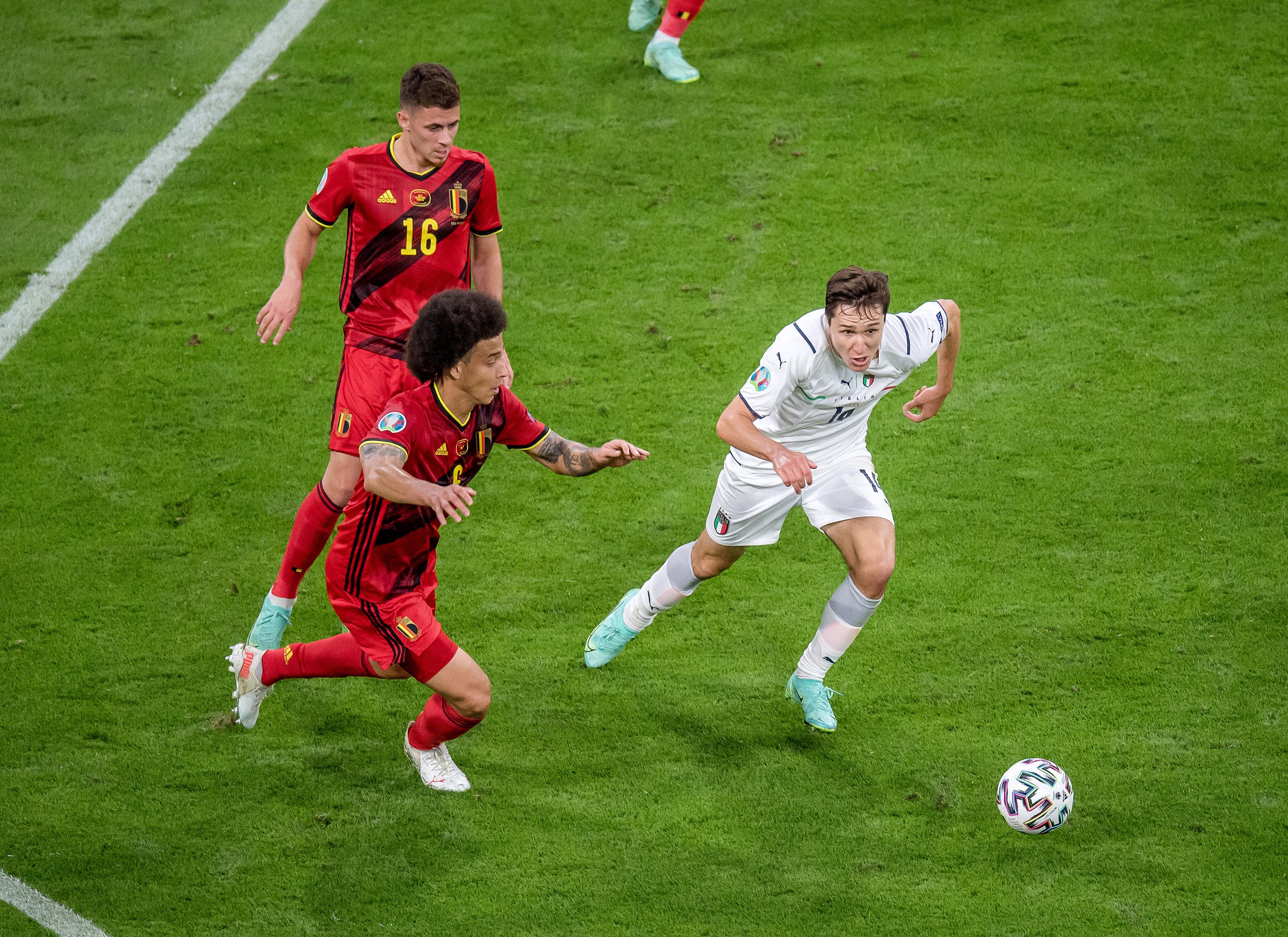比利时对意大利-2020欧洲杯:四分之一决赛