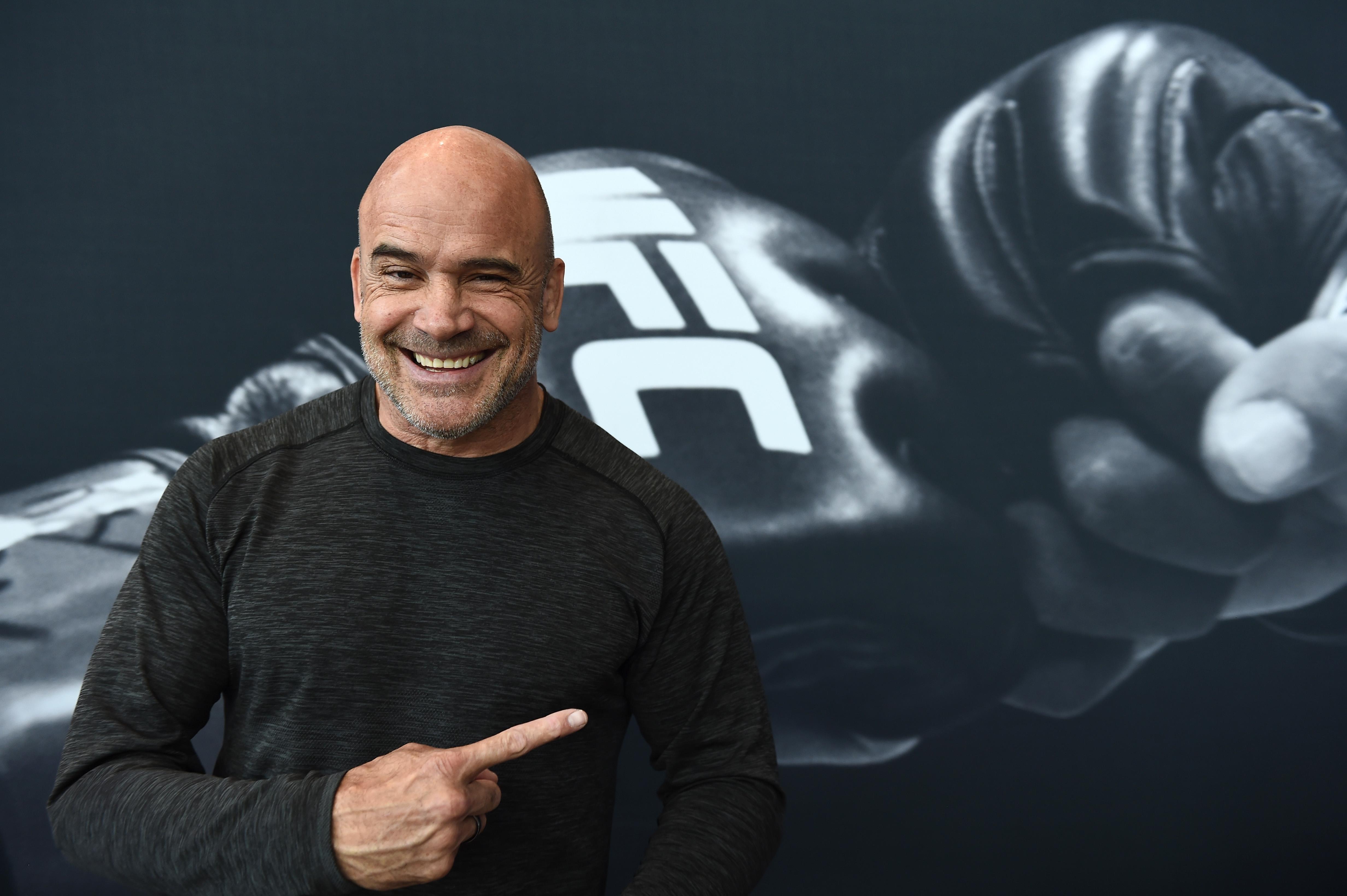 Bas Rutten attends a UFC fan event in 2017.