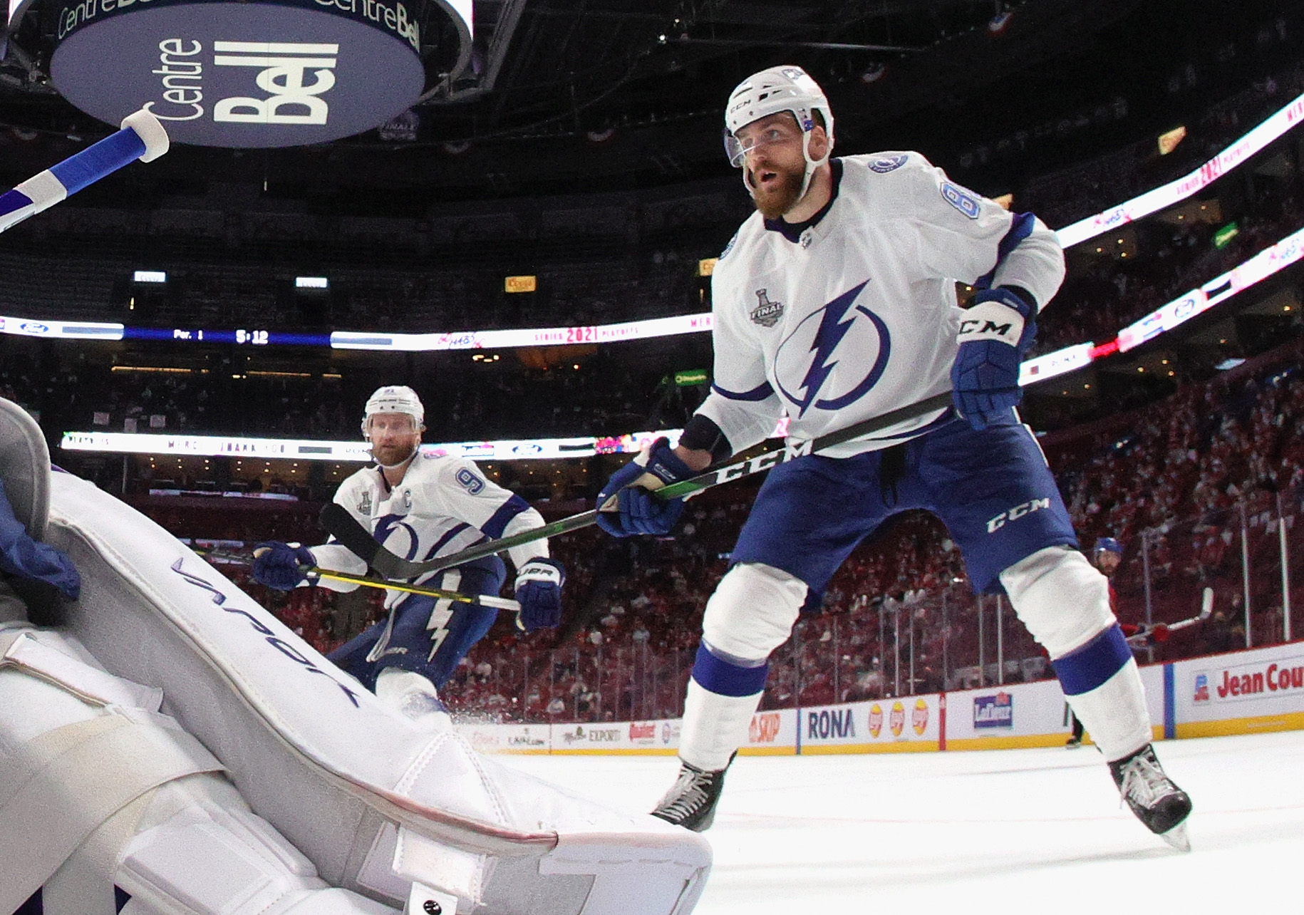 Erik Cernak #81 of the Tampa Bay Lightning skates against the Montreal Canadiens during Game Three of the 2021 NHL Stanley Cup Final at the Bell Centre on July 02, 2021 in Montreal, Quebec, Canada.