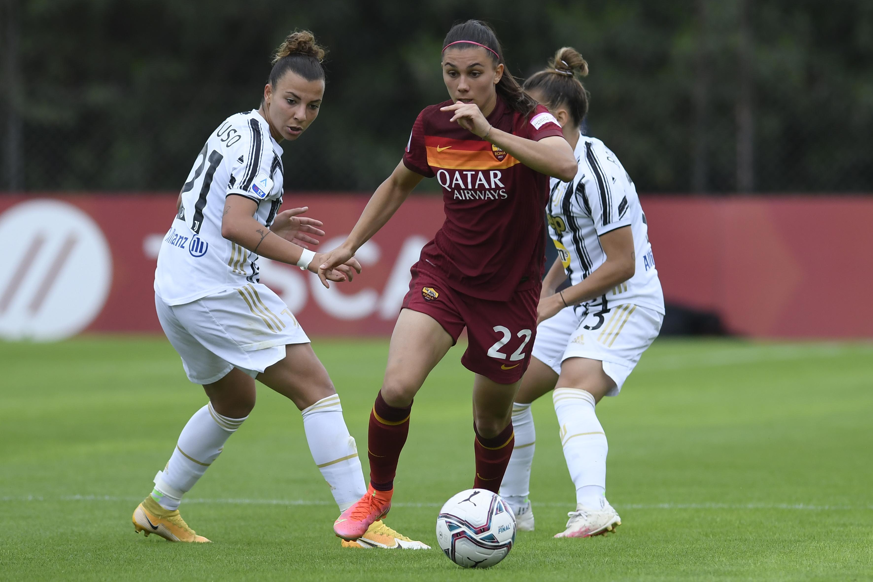 Football Serie A woman Roma-Juventus
