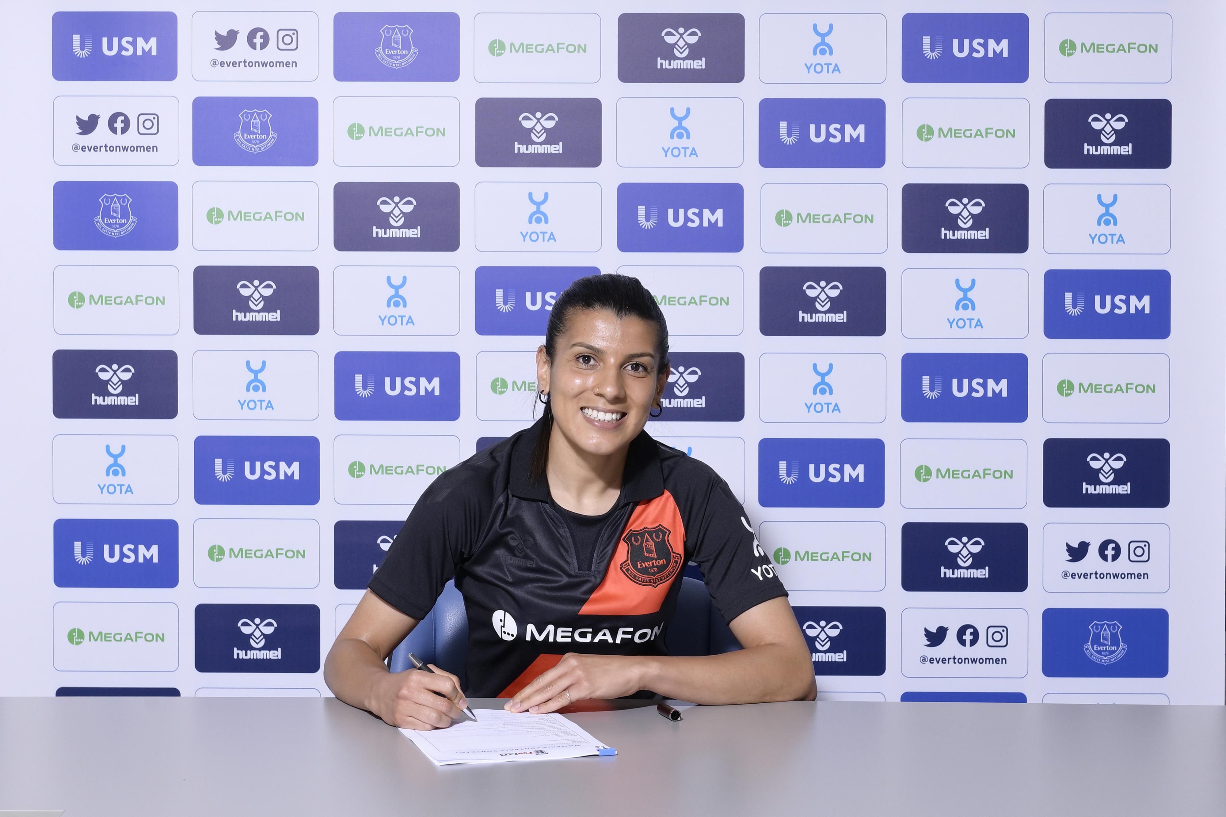 Everton Women Unveil New Signing Kenza Dali