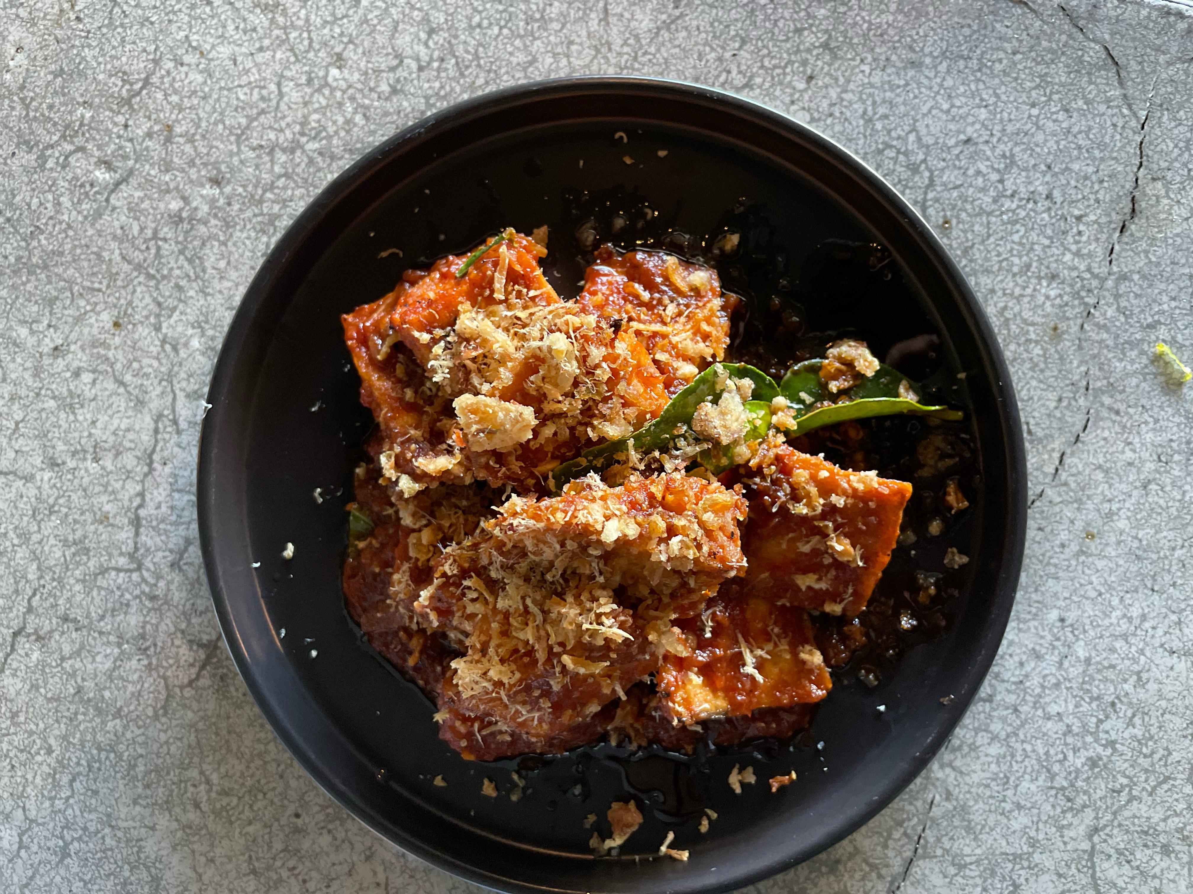 Tofu, tomato and shrimp floss from Hoxton Manor