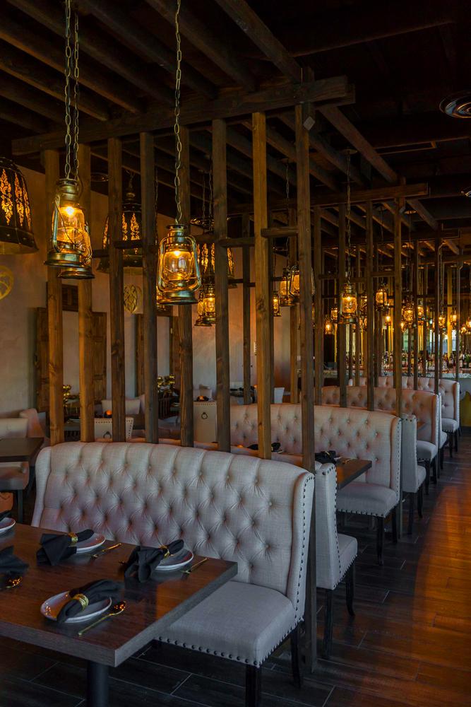 The interior of Thai restaurant Lamaii, on Spring Mountain Road.