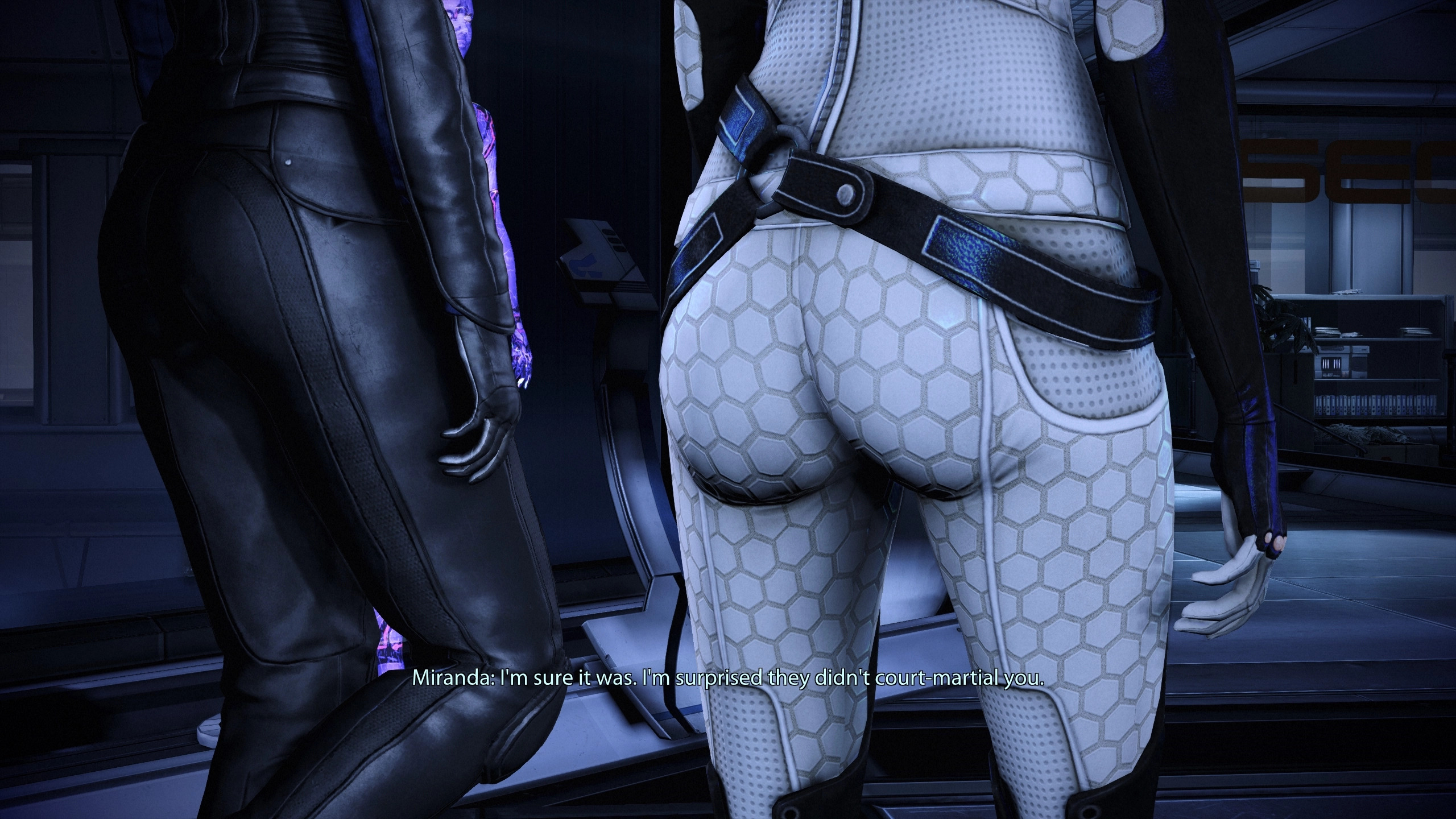 an image where the camera is focused on miranda's butt